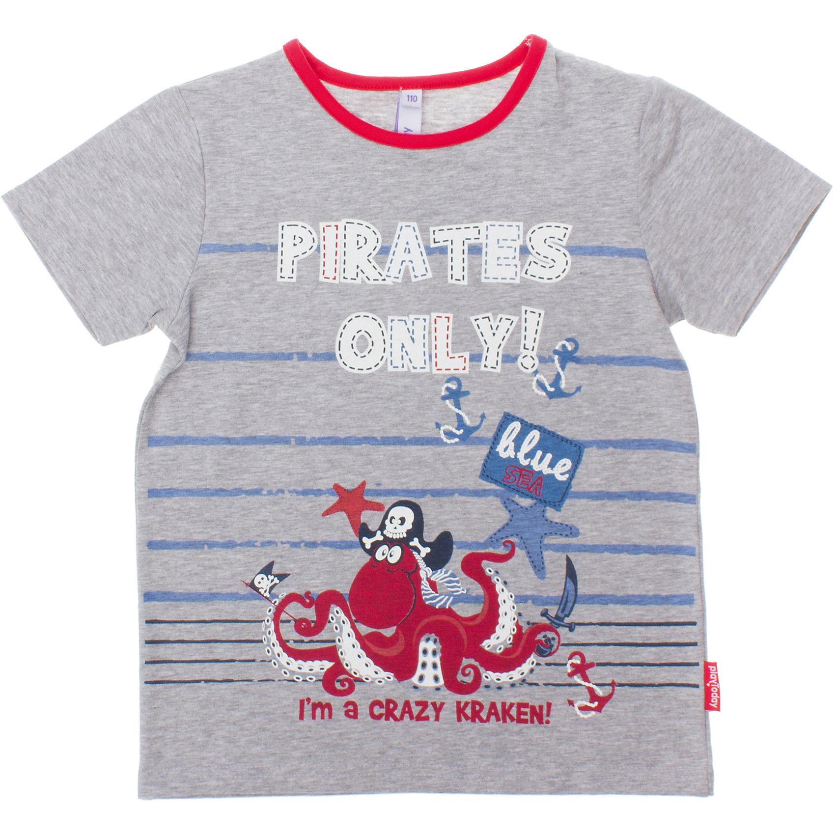 PlayToday Футболка для мальчика PlayToday trybeyond футболка для мальчика 999 74498 00 40z серый trybeyond