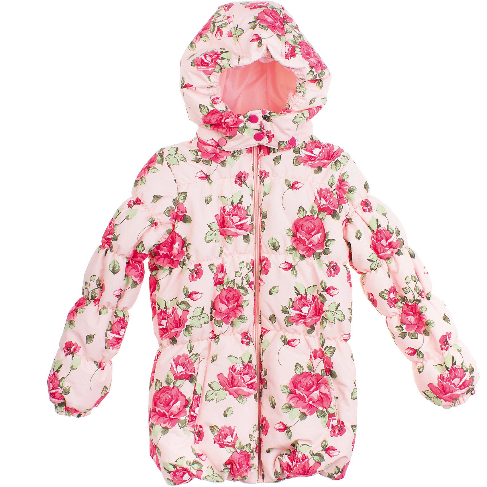 Куртка для девочки PlayTodayКуртка для девочки PlayToday <br><br>Состав: <br>Верх: 100% полиэстер <br>Подкладка: 100% полиэстер <br>Наполнитель: 100% полиэстер <br><br>Нежно-розовый цвет<br>Ткань в набивку с розами<br>Рукава, капюшон и низ на резинке<br>Подкладка - таффета<br>Наполнитель - синтепон<br>Застегивается на молнию с защитой подбородка<br>Капюшон на воротнике застегивается на две кнопки для защиты от ветра<br><br>Ширина мм: 356<br>Глубина мм: 10<br>Высота мм: 245<br>Вес г: 519<br>Цвет: розовый<br>Возраст от месяцев: 48<br>Возраст до месяцев: 60<br>Пол: Женский<br>Возраст: Детский<br>Размер: 104,128,116,98,110,122<br>SKU: 4504423