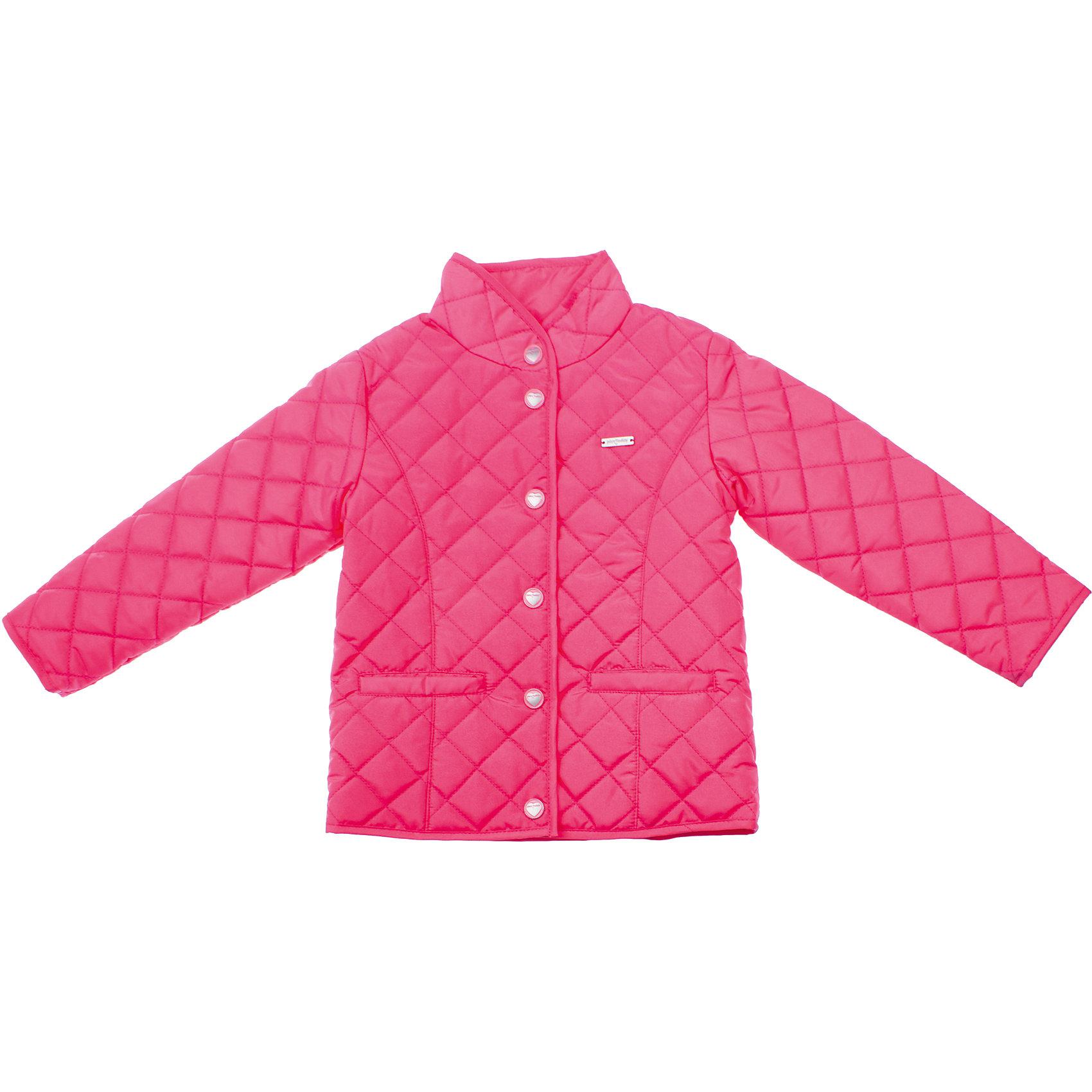 Куртка для девочки PlayTodayВерхняя одежда<br>Куртка для девочки PlayToday <br><br>Состав: <br>Верх: 100% полиэстер<br>Подкладка: 65% полиэстер, 35% хлопок<br><br>Наполнитель: 100% полиэстер легкая стеганая куртка<br>Яркий малиновый цвет<br>Застегивается на кнопки с сердечками<br>Два кармашка<br>Высокий воротник-стойка<br>Мягкая трикотажная подкладка<br><br>Ширина мм: 356<br>Глубина мм: 10<br>Высота мм: 245<br>Вес г: 519<br>Цвет: розовый<br>Возраст от месяцев: 84<br>Возраст до месяцев: 96<br>Пол: Женский<br>Возраст: Детский<br>Размер: 122,110,128,116,104,98<br>SKU: 4504430