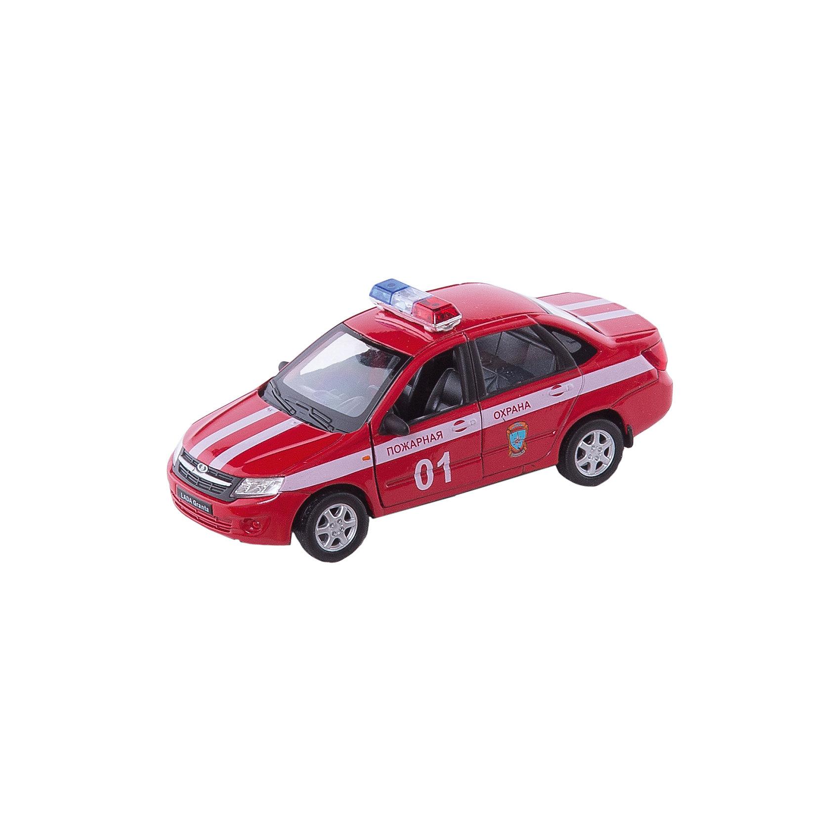 Welly Модель машины 1:34-39 LADA Granta Пожарная охрана, Welly welly 43645pb велли модель машины 1 34 39 lada priora полиция