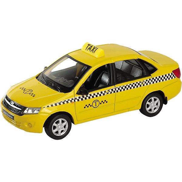 Модель машины 1:34-39 LADA Granta Такси, WellyМашинки<br>Модель машины 1:34-39 LADA Granta Такси, Welly (Велли) - коллекционная машинка станет отличным подарком для автолюбителей всех возрастов.<br>Модель машины LADA Granta от Welly (Велли) представляет собой точную копию настоящего автомобиля в масштабе 1:34-39. У машинки вращаются колёса, кузов детализирован на достойном уровне. Эта модель Лада Гранта окрашена в традиционный жёлтый цвет такси. На бортах нанесены наклейки.<br><br>Дополнительная информация:<br><br>- Масштаб модели 1:34-39<br>- Материал: пластик, металл<br>- Размер упаковки: 15х11,5х6 см.<br>- Вес: 169 гр.<br><br>Модель машины 1:34-39 LADA Granta Такси, Welly (Велли) можно купить в нашем интернет-магазине.<br><br>Ширина мм: 150<br>Глубина мм: 115<br>Высота мм: 60<br>Вес г: 169<br>Возраст от месяцев: 36<br>Возраст до месяцев: 192<br>Пол: Мужской<br>Возраст: Детский<br>SKU: 4505042