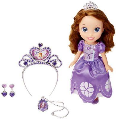 Disney Кукла София, с аксессуарами , 37 см, София Прекрасная, Принцессы Дисней