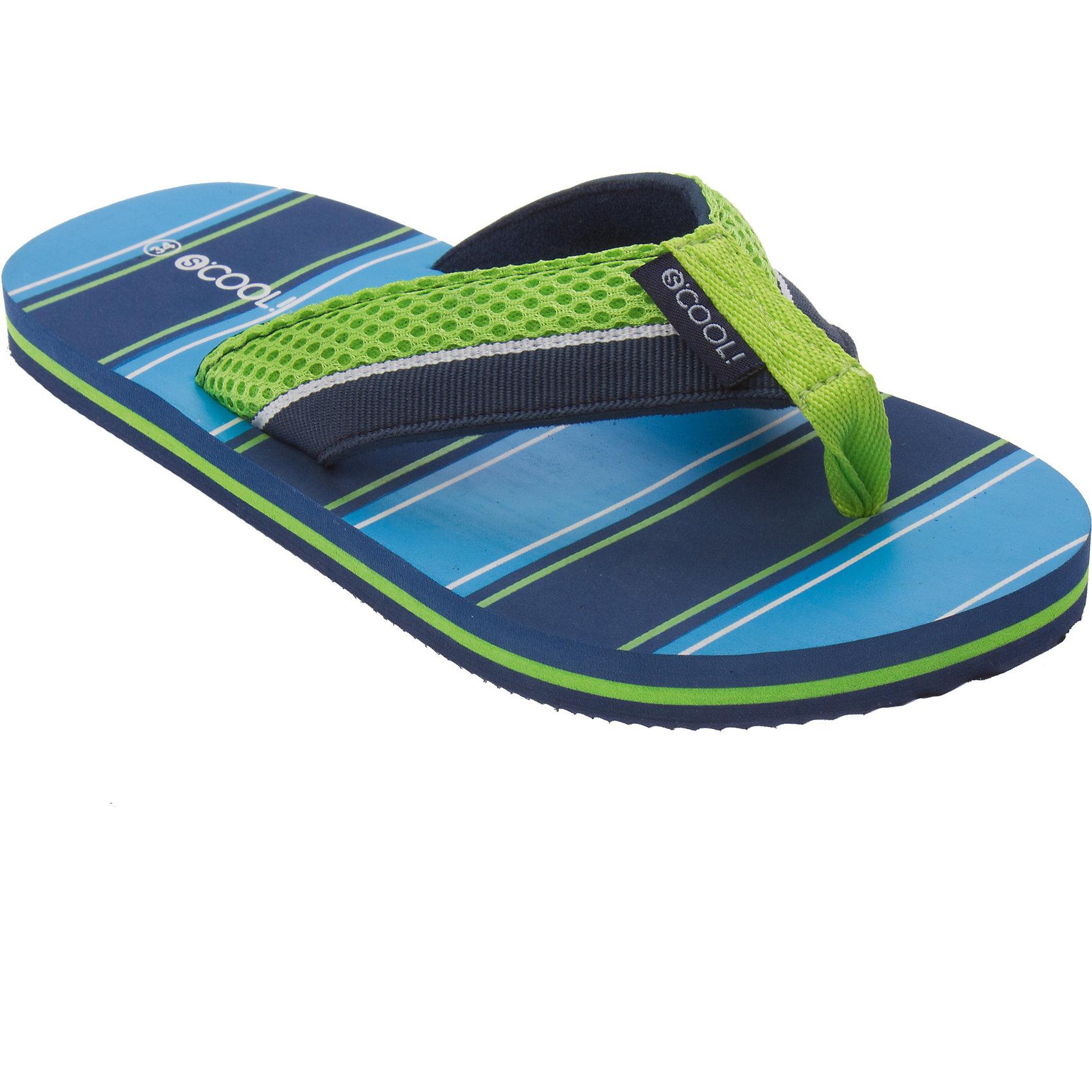 Шлепанцы для мальчика ScoolПляжная обувь<br>Пантолеты для мальчика Scool <br><br>Состав: 100% текстиль <br><br>Яркие полоски синего и голубого цветов<br>Резиновая подошва с рифлением<br><br>Ширина мм: 225<br>Глубина мм: 139<br>Высота мм: 112<br>Вес г: 290<br>Цвет: синий/зеленый<br>Возраст от месяцев: 180<br>Возраст до месяцев: 192<br>Пол: Мужской<br>Возраст: Детский<br>Размер: 39,38,37,33,35,36,32,34<br>SKU: 4508043