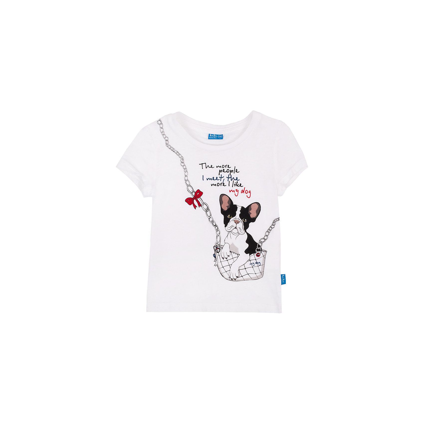 Футболка для девочки Button BlueБелая футболка с ярким принтом - не просто базовая вещь в гардеробе ребенка, а залог хорошего летнего настроения! Отличное качество и доступная цена прилагаются. Если вы решили купить недорогую белую футболку для девочки, выберете модель футболки с оригинальным принтом, и ваш ребенок будет доволен!<br>Состав:<br>100% хлопок<br><br>Ширина мм: 199<br>Глубина мм: 10<br>Высота мм: 161<br>Вес г: 151<br>Цвет: белый<br>Возраст от месяцев: 48<br>Возраст до месяцев: 60<br>Пол: Женский<br>Возраст: Детский<br>Размер: 110,98,146,134,122,104,158,152,128,116,140<br>SKU: 4510035