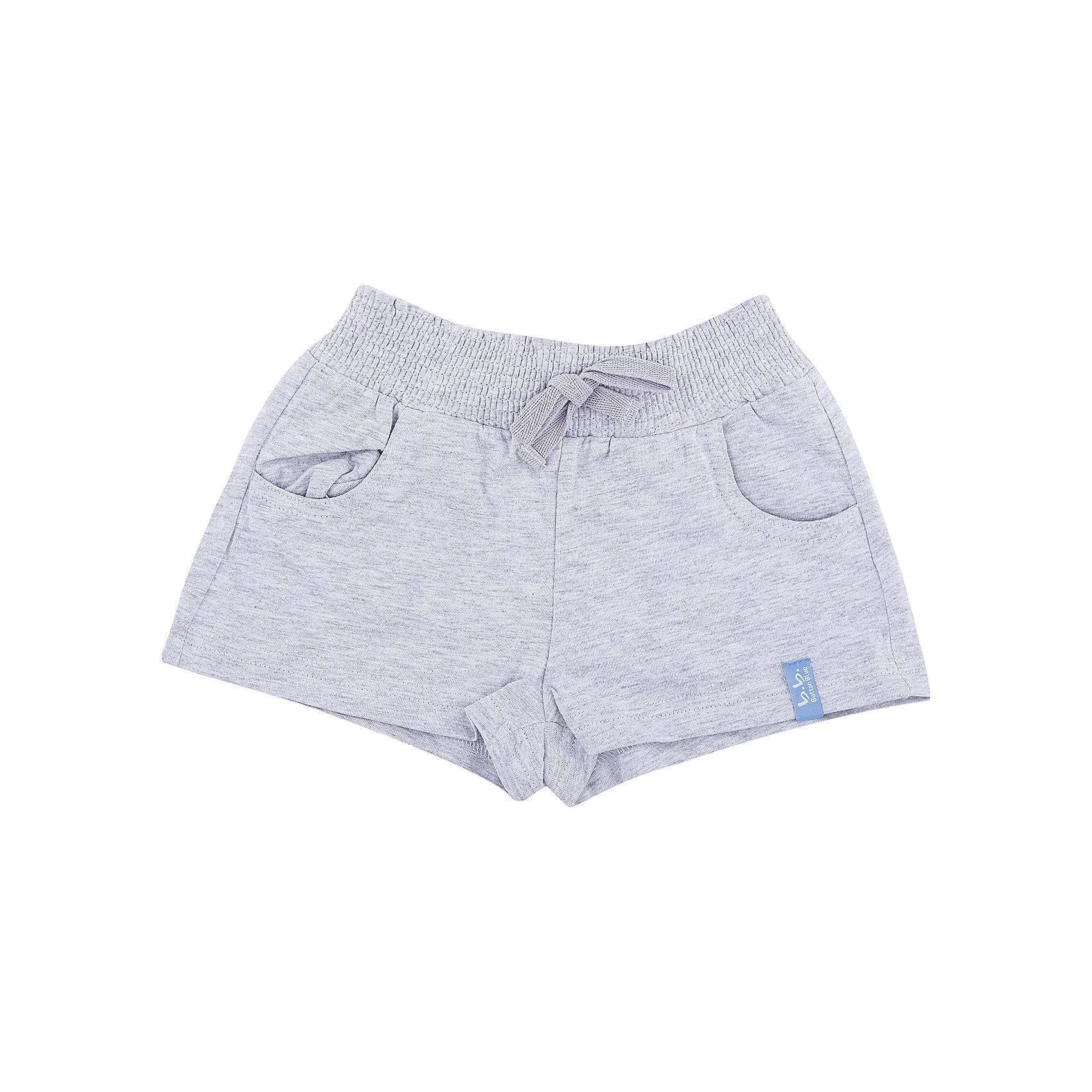 Шорты для девочки Button BlueШорты, бриджи, капри<br>Детские трикотажные шорты — образец комфорта! Шорты выполнены из серого меланжа, что позволяет им быть прекрасной парой для любой майки или футболки. Если вы хотите купить недорого удобные практичные серые шорты для девочки, эта модель — то, что нужно.<br>Состав:<br>95% хлопок 5%вискоза<br><br>Ширина мм: 191<br>Глубина мм: 10<br>Высота мм: 175<br>Вес г: 273<br>Цвет: серый<br>Возраст от месяцев: 36<br>Возраст до месяцев: 48<br>Пол: Женский<br>Возраст: Детский<br>Размер: 104,128,116,98,134,110,140,122<br>SKU: 4510059