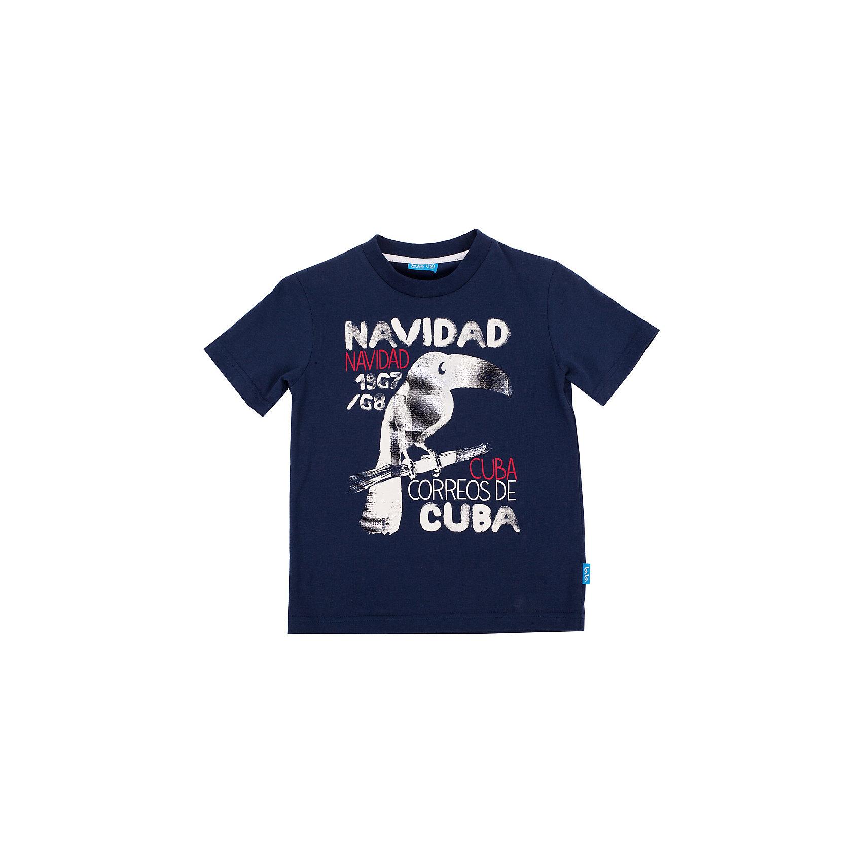 Футболка для мальчика Button BlueСиняя футболка с ярким принтом - не просто базовая вещь в гардеробе ребенка, а залог хорошего летнего настроения! Отличное качество и доступная цена прилагаются. Если вы решили купить недорогую футболку для мальчика, выберете модель футболки с оригинальным принтом, и ваш ребенок будет доволен!<br>Состав:<br>100% хлопок<br><br>Ширина мм: 199<br>Глубина мм: 10<br>Высота мм: 161<br>Вес г: 151<br>Цвет: синий<br>Возраст от месяцев: 24<br>Возраст до месяцев: 36<br>Пол: Мужской<br>Возраст: Детский<br>Размер: 98,116,122,110,128,104<br>SKU: 4510143