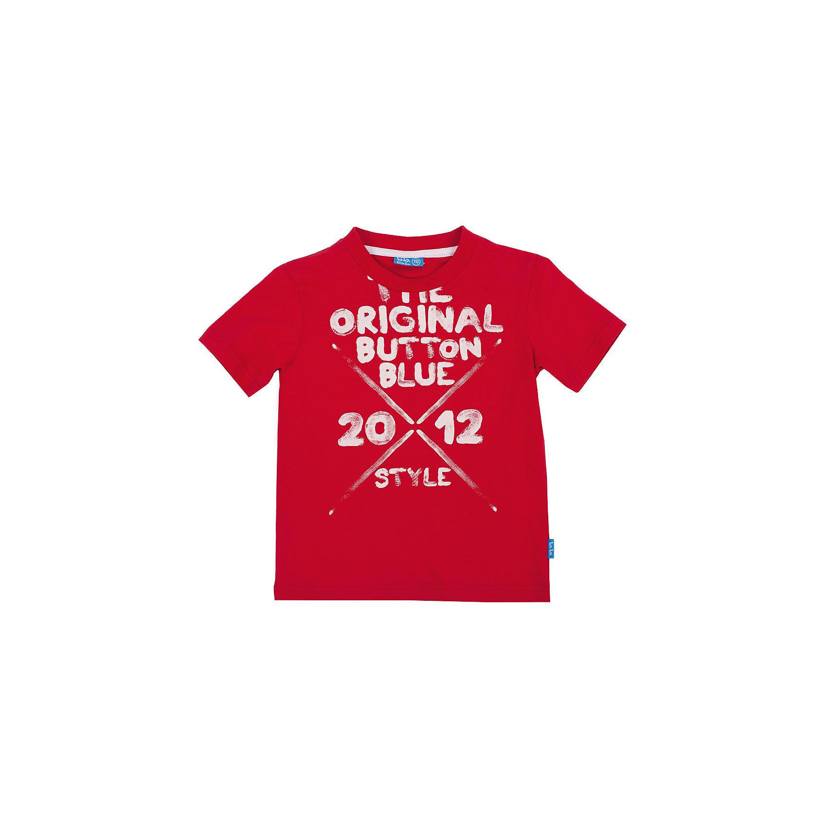 Футболка для мальчика Button BlueФутболки, поло и топы<br>Красная футболка с ярким принтом - не просто базовая вещь в гардеробе ребенка, а залог хорошего летнего настроения! Отличное качество и доступная цена прилагаются. Если вы решили купить недорогую футболку для мальчика, выберете модель футболки с оригинальным принтом, и ваш ребенок будет доволен!<br>Состав:<br>100% хлопок<br><br>Ширина мм: 199<br>Глубина мм: 10<br>Высота мм: 161<br>Вес г: 151<br>Цвет: красный<br>Возраст от месяцев: 36<br>Возраст до месяцев: 48<br>Пол: Мужской<br>Возраст: Детский<br>Размер: 104,98,146,152,158,134,110,116,128,140,122<br>SKU: 4510150