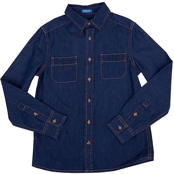 Рубашка джинсовая для мальчика Button BlueБлузки и рубашки<br>Джинсовая рубашка - модный акцент повседневного гардероба ребенка. Купить рубашку для мальчика стоит уже ранней весной и компоновать ее с толстовкой, джемпером, поло, создавая модные многослойные образы. И для лета классная рубашка из 100% хлопка - отличный вариант. С брюками, шортами, джинсами она будет выглядеть свежо и стильно!<br>Состав:<br>100%хлопок<br><br>Ширина мм: 174<br>Глубина мм: 10<br>Высота мм: 169<br>Вес г: 157<br>Цвет: голубой<br>Возраст от месяцев: 132<br>Возраст до месяцев: 144<br>Пол: Мужской<br>Возраст: Детский<br>Размер: 152,134,128,158,140,146<br>SKU: 4510454