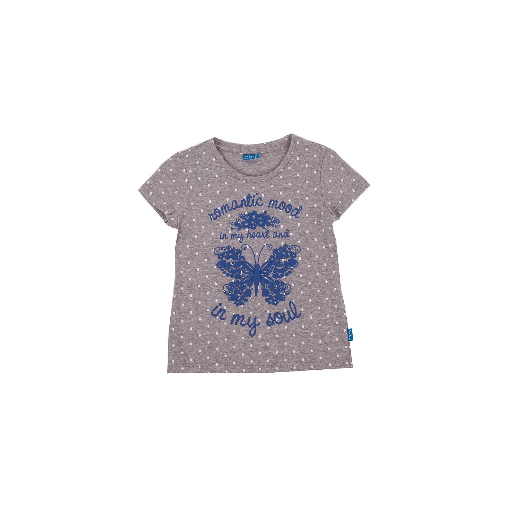 Футболка для девочки Button BlueСерая меланжевая футболка в горошек с ярким принтом - не просто базовая вещь в гардеробе ребенка, а залог хорошего летнего настроения! Отличное качество и доступная цена прилагаются. Если вы решили купить недорогую футболку для девочки, выберете модель футболки с оригинальным принтом, и ваш ребенок будет доволен!<br>Состав:<br>100% хлопок<br><br>Ширина мм: 199<br>Глубина мм: 10<br>Высота мм: 161<br>Вес г: 151<br>Цвет: серый<br>Возраст от месяцев: 132<br>Возраст до месяцев: 144<br>Пол: Женский<br>Возраст: Детский<br>Размер: 152,98,128,140,122,116,146,134,110,158,104<br>SKU: 4510545