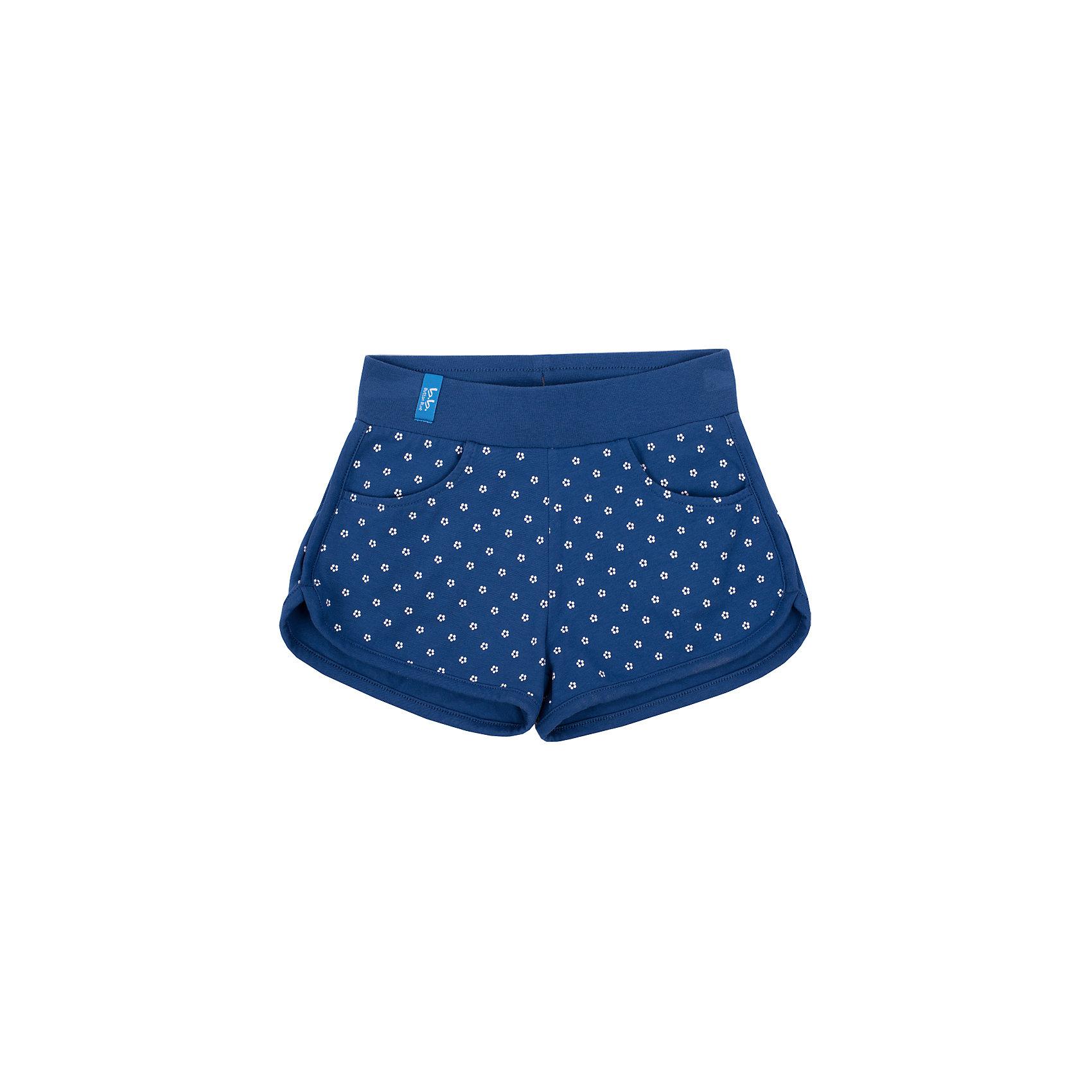 Шорты для девочки Button BlueДетские трикотажные шорты — образец комфорта! Синие шорты в мелкий цветочек для девочки сделают летний комплект в спортивном стиле ярким и интересным. Если вы хотите купить недорого классные шорты на каждый день, эта модель — то, что нужно.<br>Состав:<br>95% хлопок           5% эластан<br><br>Ширина мм: 191<br>Глубина мм: 10<br>Высота мм: 175<br>Вес г: 273<br>Цвет: синий<br>Возраст от месяцев: 72<br>Возраст до месяцев: 84<br>Пол: Женский<br>Возраст: Детский<br>Размер: 122,134,110,98,128,104,140,116<br>SKU: 4510642