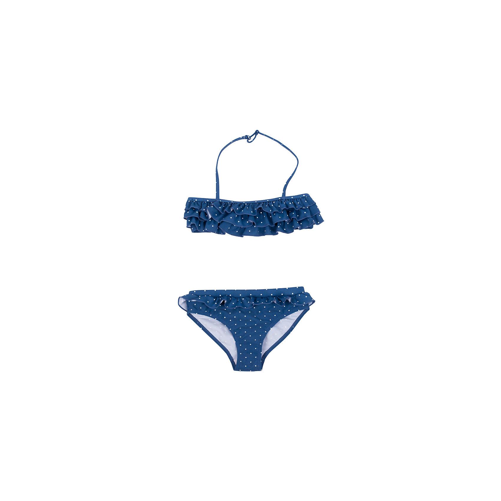 Купальник для девочки Button BlueКупить красивый синий купальник в горошек - подарить девочке отличное настроение на весь пляжный сезон. А купить красивый детский купальник недорого, значит, сделать правильный выбор и получить удовольствие от покупки.<br>Состав:<br>83% полиамид        17% эластан;       подкл.:                    100% полиэстер<br><br>Ширина мм: 183<br>Глубина мм: 60<br>Высота мм: 135<br>Вес г: 119<br>Цвет: синий<br>Возраст от месяцев: 84<br>Возраст до месяцев: 96<br>Пол: Женский<br>Возраст: Детский<br>Размер: 140,128,98,116,104<br>SKU: 4510752