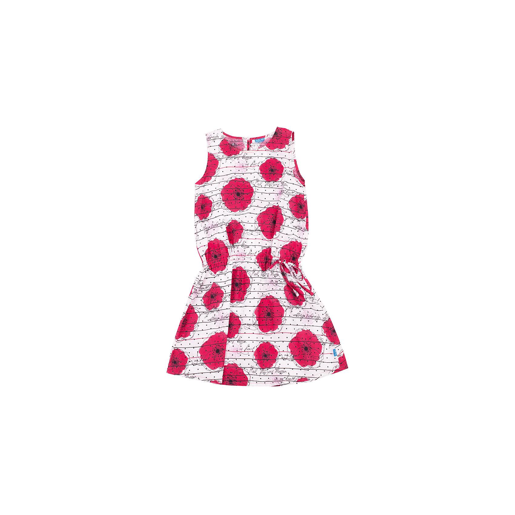 Платье для девочки Button BlueПлатья и сарафаны<br>Прекрасный летний вариант - платье без рукавов в крупный оригинальный цветок. Модный силуэт, комфортная форма, доступная цена делают платье для девочки отличным решением для каждого дня лета. Купить детское платье Button Blue, значит, купить яркое летнее платье недорого и быстро, не сомневаясь в его качестве и комфорте.<br>Состав:<br>100%хлопок<br><br>Ширина мм: 236<br>Глубина мм: 16<br>Высота мм: 184<br>Вес г: 177<br>Цвет: разноцветный<br>Возраст от месяцев: 96<br>Возраст до месяцев: 108<br>Пол: Женский<br>Возраст: Детский<br>Размер: 134,158,146,152,128,140<br>SKU: 4510772