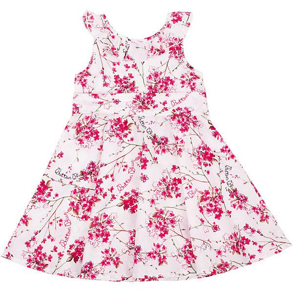 Платье для девочки Button BlueОдежда<br>Классный сарафан с цветочным рисунком - отличный вариант и на каждый день, и на выход. Он выглядит ярко, сделан из 100% хлопка, прекрасно сидит и смотрится на фигуре. Отличное качество и доступная цена прилагаются. Если Вы хотите купить красивый сарафан для девочки недорого и быстро, сарафан Button Blue - то, что нужно!<br>Состав:<br>100% хлопок<br><br>Ширина мм: 236<br>Глубина мм: 16<br>Высота мм: 184<br>Вес г: 177<br>Цвет: белый<br>Возраст от месяцев: 24<br>Возраст до месяцев: 36<br>Пол: Женский<br>Возраст: Детский<br>Размер: 98,104,116,122,110<br>SKU: 4510810