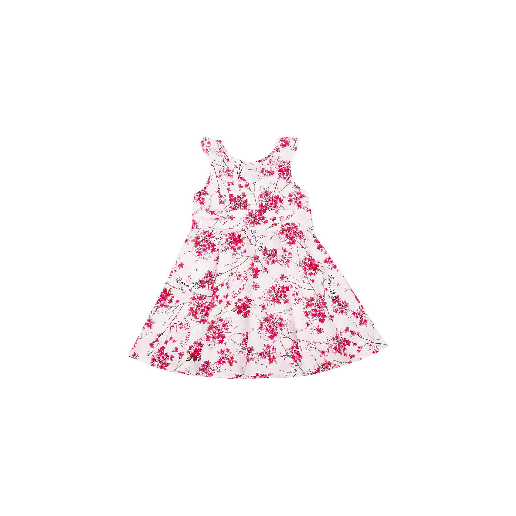 Платье для девочки Button BlueОдежда<br>Классный сарафан с цветочным рисунком - отличный вариант и на каждый день, и на выход. Он выглядит ярко, сделан из 100% хлопка, прекрасно сидит и смотрится на фигуре. Отличное качество и доступная цена прилагаются. Если Вы хотите купить красивый сарафан для девочки недорого и быстро, сарафан Button Blue - то, что нужно!<br>Состав:<br>100% хлопок<br><br>Ширина мм: 236<br>Глубина мм: 16<br>Высота мм: 184<br>Вес г: 177<br>Цвет: разноцветный<br>Возраст от месяцев: 24<br>Возраст до месяцев: 36<br>Пол: Женский<br>Возраст: Детский<br>Размер: 98,104,110,122,116<br>SKU: 4510810