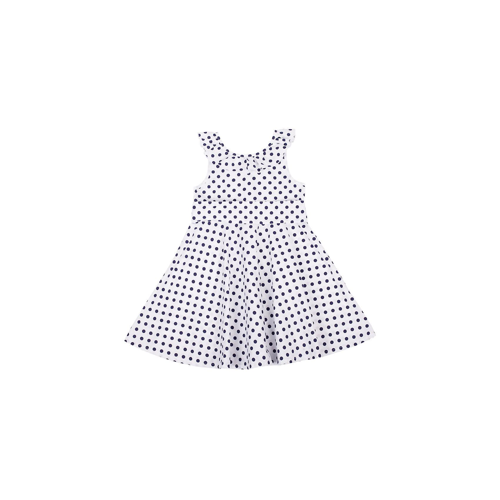 Платье для девочки Button BlueКлассный сарафан в горох с юбкой солнце - отличный вариант и на каждый день, и на выход. Он выглядит ярко, сделан из 100% хлопка, прекрасно сидит и смотрится на фигуре. Отличное качество и доступная цена прилагаются. Если Вы хотите купить красивый сарафан для девочки недорого и быстро, сарафан Button Blue - то, что нужно!<br>Состав:<br>100% хлопок<br><br>Ширина мм: 236<br>Глубина мм: 16<br>Высота мм: 184<br>Вес г: 177<br>Цвет: белый<br>Возраст от месяцев: 36<br>Возраст до месяцев: 48<br>Пол: Женский<br>Возраст: Детский<br>Размер: 104,122,98,110,116<br>SKU: 4510816