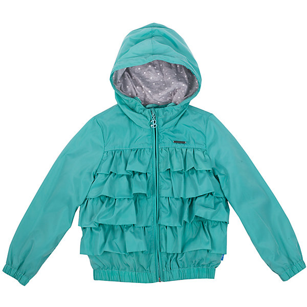 Ветровка для девочки Button BlueВерхняя одежда<br>Хит прогулочного гардероба, бирюзовая ветровка для девочки, выглядит отлично! Модная удобная форма, продуманные функциональные детали, оригинальная череда рюш на передней части модели, трикотажная подкладка делают ветровку отличной вещью на каждый день. Купить детскую ветровку Button Blue, значит, купить классную ветровку недорого и быстро, не сомневаясь в ее качестве и комфорте.<br>Состав:<br>тк. верха:      100% полиэстер,        подкл.: 100% хлопок<br>Ширина мм: 356; Глубина мм: 10; Высота мм: 245; Вес г: 519; Цвет: голубой; Возраст от месяцев: 36; Возраст до месяцев: 48; Пол: Женский; Возраст: Детский; Размер: 104,98,110,122,116; SKU: 4510822;