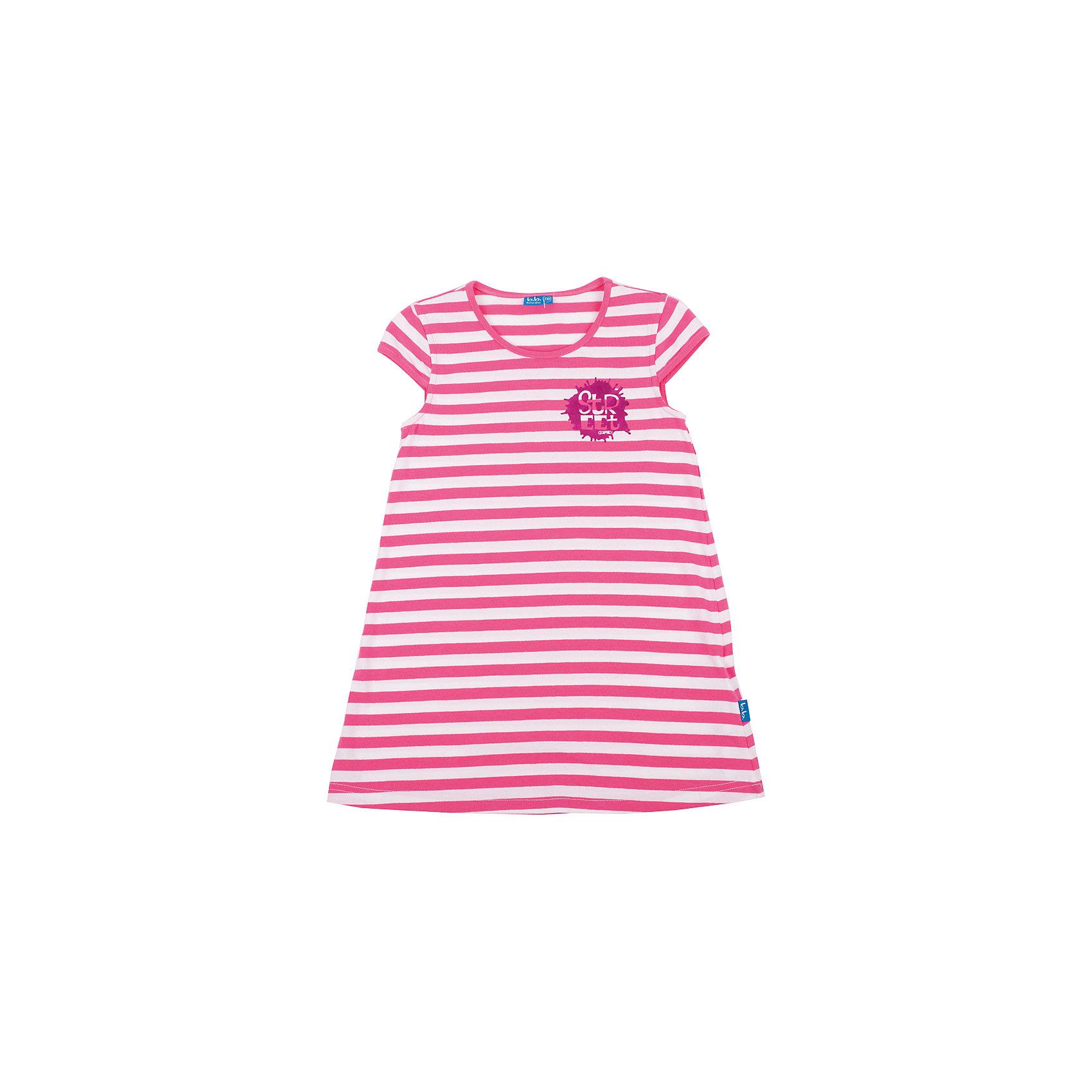 Платье для девочки Button BlueХит прогулочного летнего гардероба, яркое платье для девочки в розовую полоску выглядит отлично! Удобная форма, динамичный рисунок, яркий сияющий принт делают платье необходимой вещью на каждый день. Купить детское платье Button Blue, значит, купить классное летнее платье недорого и быстро, не сомневаясь в его качестве и комфорте.<br>Состав:<br>95% хлопок                                5% эластан<br><br>Ширина мм: 236<br>Глубина мм: 16<br>Высота мм: 184<br>Вес г: 177<br>Цвет: бело-розовый<br>Возраст от месяцев: 36<br>Возраст до месяцев: 48<br>Пол: Женский<br>Возраст: Детский<br>Размер: 98,116,110,122,104<br>SKU: 4510834