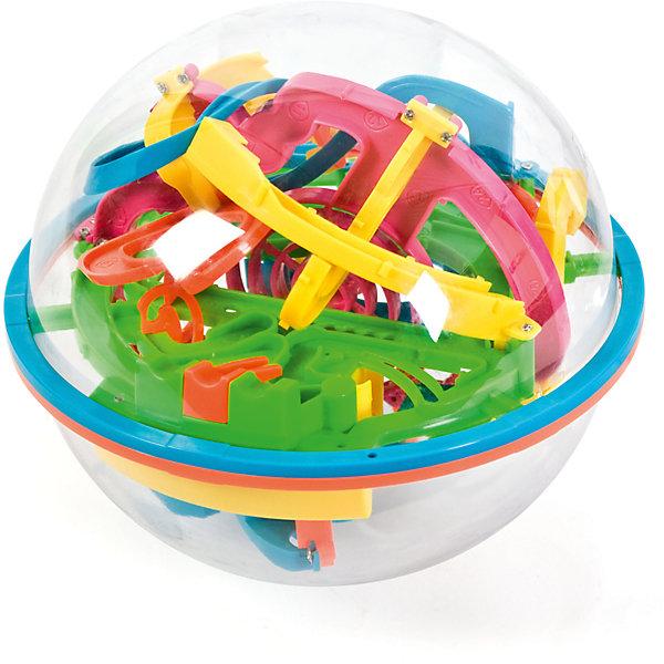 Головоломка Шар-лабиринт 118 шагов, диам. 17Головоломки - лабиринты<br>Хороший, практичный выбор! Золотая середина, средняя версия между небольшим шаром 13см и классическим 19см. Размер сферы этого лабиринта 17 см, а трасса насчитывает 118 шагов. Идеальное соотношение цена - качество. С данной моделью, можно играть всей семьей, играшка будет радовать не только детей но и их родителей. Данная модель, так же, не займет много места, и её с легкостью можно брать с собой в школу, в дорогу, на море и в поездки на дачу.             Размер коробки: 16х16х16см.<br><br>Ширина мм: 160<br>Глубина мм: 160<br>Высота мм: 160<br>Вес г: 300<br>Возраст от месяцев: 60<br>Возраст до месяцев: 144<br>Пол: Унисекс<br>Возраст: Детский<br>SKU: 4510873