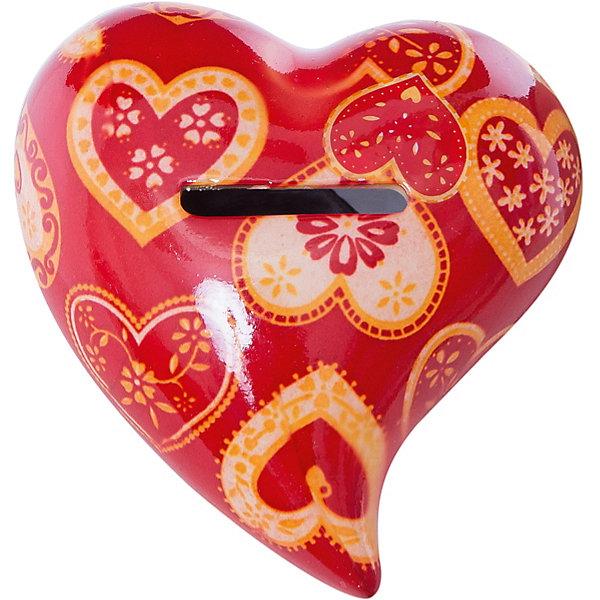 Керамическая копилка СердцеДетские предметы интерьера<br>Керамическая копилка Сердце станет приятным и романтичным подарком на день всех влюбленных или еще одним поводом порадовать близкого человека. Игрушка выполнена в виде красного сердечка, украшенного нарядным рисунком в виде разнообразных сердечек. Копилка прекрасно украсит интерьер и будет напоминать о ее дарителе.<br><br>Дополнительная информация:<br><br>- Материал: керамика.<br>- Размер сувенира: 9,3 см.<br>- Вес: 151 гр.<br><br>Керамическую копилку Сердце, Премьер-игрушка, можно купить в нашем интернет-магазине.<br>Ширина мм: 93; Глубина мм: 93; Высота мм: 50; Вес г: 151; Возраст от месяцев: 36; Возраст до месяцев: 2147483647; Пол: Унисекс; Возраст: Детский; SKU: 4512292;