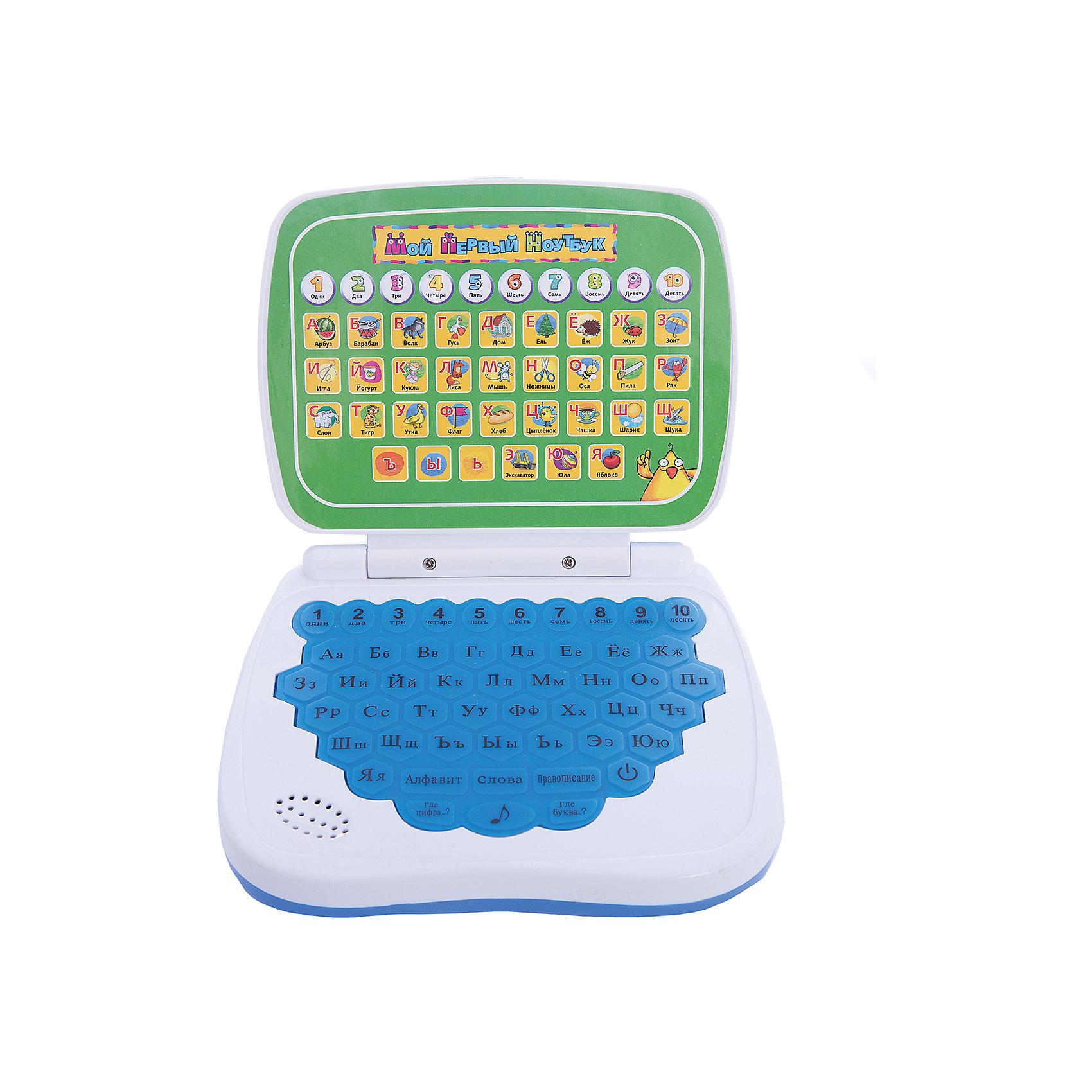 Обучающий компьютер , русский, Kribly BooДети обожают гаджеты и новые технологии. Благодаря этому обучающему компьютеру, ваш малыш запомнит цифры и буквы, сможет развить память, внимание и, конечно, получит массу положительных эмоций. Компьютер имеет шесть режимов игры:<br>- Нажми на букву или цифру и узнай, как она называется;<br>- Нажми на букву и услышишь слово, которое с нее начинается;<br>- Нажми на кнопку и услышишь, из каких букв состоит это слово;<br>- Где цифра? В этом режиме игрушка будет проверять, хорошо ли ты помнишь цифры от 1 до 10. Чтобы ответить, нажми на кнопку с правильным ответом;<br>- Где буква? В этом режиме игрушка будет проверять, хорошо ли ты помнишь буквы. Чтобы ответить, нажми на кнопку с правильным ответом;<br>- Нажимай на кнопки и слушай веселые мелодии.<br><br>Дополнительная информация:<br><br>- Материал: пластик, металл.<br>- Размер: 16,5х19х4 см.<br>- Звуковые эффекты.<br>- Элемент питания: 3 АА батарейки (не входят в комплект).<br>- 6 режимов. <br>- Язык: русский.<br><br>Обучающий компьютер , русский, Kribly Boo, можно купить в нашем магазине.<br><br>Ширина мм: 190<br>Глубина мм: 165<br>Высота мм: 40<br>Вес г: 243<br>Возраст от месяцев: 36<br>Возраст до месяцев: 84<br>Пол: Унисекс<br>Возраст: Детский<br>SKU: 4515328