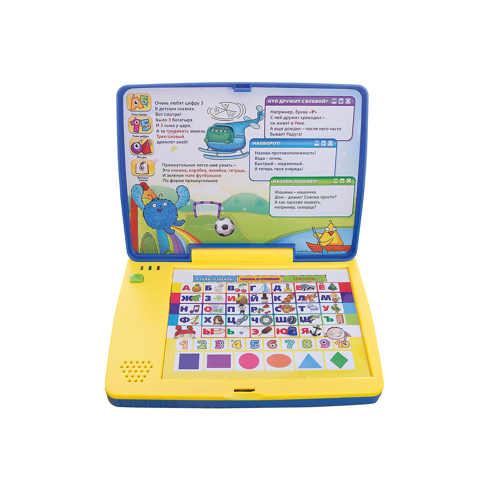 Компьютер для малышей, Kribly BooДетская электроника<br>Дети обожают гаджеты и новые технологии. Благодаря этому обучающему компьютеру, ваш малыш сможет развить память, внимание, научится сосредотачиваться на предложенных заданиях и, конечно, получит массу положительных эмоций. Компьютер имеет три режима игры:<br>- Буквы и цифры.<br>- Слова и стишки.<br>- Режим Экзамен в игре подготавливает ребенка к будущему школьному обучению, учит его сосредоточиваться на предложенных заданиях.<br><br>Дополнительная информация:<br><br>- Материал: пластик, металл.<br>- Размер: 24х34х5 см.<br>- Звуковые эффекты.<br>- Стихи озвучены профессиональными актерами. <br>- Элемент питания: 3 ААА батарейки (входят в комплект).<br>- 3 режима. <br>- Язык: русский.<br><br>Компьютер для малышей, Kribly Boo, можно купить в нашем магазине.<br><br>Ширина мм: 340<br>Глубина мм: 240<br>Высота мм: 48<br>Вес г: 583<br>Возраст от месяцев: 36<br>Возраст до месяцев: 84<br>Пол: Унисекс<br>Возраст: Детский<br>SKU: 4515329