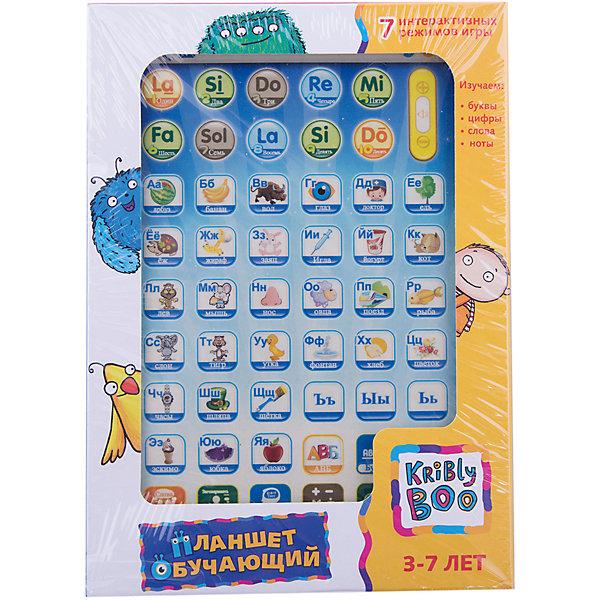Обучающий планшет 8, Kribly BooДетские гаджеты<br>Дети обожают гаджеты и новые технологии.  С помощью этого простого и понятного планшета малыш сможет получить первоначальные навыки о цифрах и счете, буквах, нотах, развить внимание и память, делая это в игровой, интересной форме. Планшет включает в себя 7 режимов игры: изучение очередности букв в алфавите, изучение отдельных букв, изучение цифр, изучение слов,<br>экзамен, тест на сложение и вычитание, изучение нот. Режимы Тест и Математика  учат ребенка сосредотачиваться на предложенных заданиях, формируют психологическую готовность к школьному обучению. <br><br>Дополнительная информация:<br><br>- Материал: пластик, металл.<br>- Размер упаковки: 13х18х2,5 см.<br>- Звуковые эффекты.<br>- Регулировка звука. <br>- Элемент питания: 3 АА батарейки (не входят в комплект).<br>- 7 режимов. <br>- Язык: русский.<br><br>Обучающий планшет 8, Kribly Boo (Крибли Бу), можно купить в нашем магазине.<br><br>Ширина мм: 180<br>Глубина мм: 130<br>Высота мм: 25<br>Вес г: 226<br>Возраст от месяцев: 36<br>Возраст до месяцев: 84<br>Пол: Унисекс<br>Возраст: Детский<br>SKU: 4515331