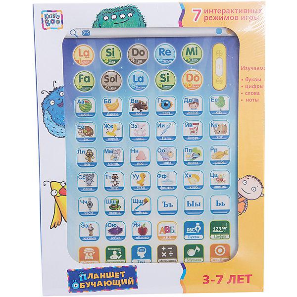 Обучающий планшет 11, Kribly BooДетские гаджеты<br>Дети обожают гаджеты и новые технологии.  С помощью этого простого и понятного планшета малыш сможет получить первоначальные навыки о цифрах и буквах, развить внимание и память, делая это в игровой, интересной форме. Планшет включает в себя 6 режимов игры: буквы и цифры, слова, правописание, проверка знания букв, проверка знания цифр, музыка.<br><br>Дополнительная информация:<br><br>- Материал: пластик, металл.<br>- Размер игрушки: 24х18х3 см.<br>- Звуковые эффекты.<br>- Регулировка звука. <br>- Элемент питания: 3 АА батарейки (не входят в комплект).<br>- 6 режимов. <br>- Язык: русский.<br><br>Обучающий планшет 11, Kribly Boo (Крибли Бу), можно купить в нашем магазине.<br><br>Ширина мм: 240<br>Глубина мм: 185<br>Высота мм: 25<br>Вес г: 313<br>Возраст от месяцев: 36<br>Возраст до месяцев: 84<br>Пол: Унисекс<br>Возраст: Детский<br>SKU: 4515333