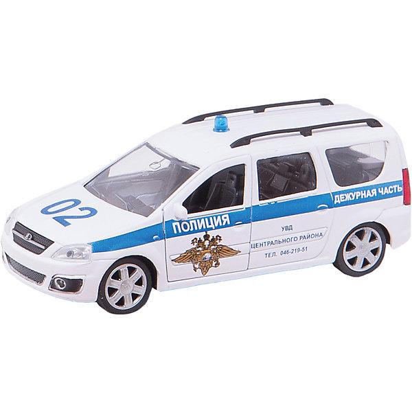 Машина LADA LARGUS, полиция, 1:38Машинки<br>МашинаLADA LARGUS - коллекционная модель, являющая копией настоящего автомобиля, сделанной в масштабе 1:38. Машинка станет прекрасным подарком всем юным автолюбителям и займет достойное место в любой коллекции автомобилей. Игрушка имеет инерционный механизм и открывающиеся двери, выполнена из высококачественных прочных безопасных материалов. <br><br>Дополнительная информация:<br><br>- Материал: пластик, металл.<br>- Масштаб: 1:38.<br>- Колеса подвижные.<br>- Двери открываются.<br>- Инерционный механизм. <br><br>Машину LADA LARGUS, полиция, 1:38, можно купить в нашем магазине.<br>Ширина мм: 165; Глубина мм: 57; Высота мм: 72; Вес г: 159; Возраст от месяцев: 36; Возраст до месяцев: 84; Пол: Мужской; Возраст: Детский; SKU: 4515343;