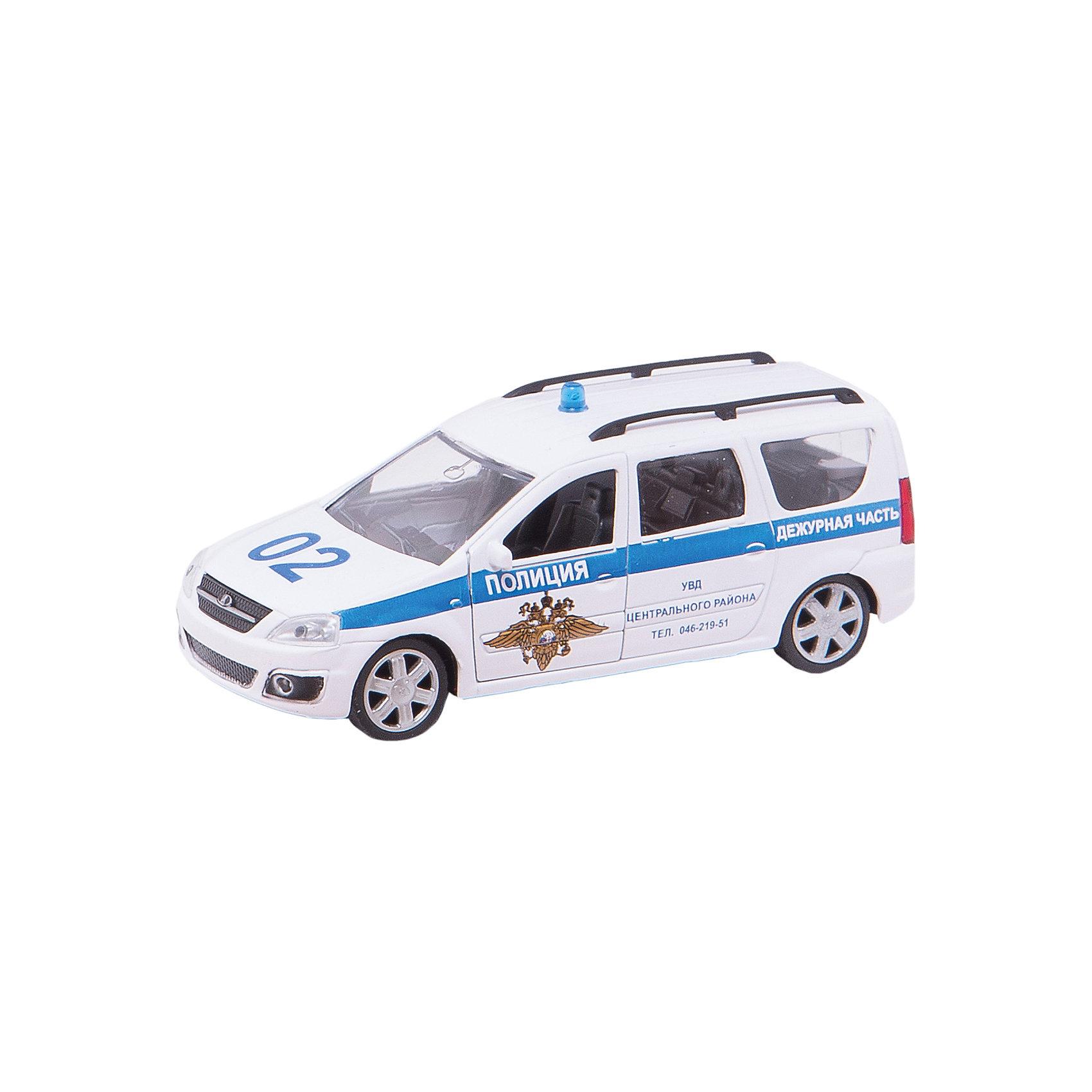 Машина LADA LARGUS, полиция, 1:38МашинаLADA LARGUS - коллекционная модель, являющая копией настоящего автомобиля, сделанной в масштабе 1:38. Машинка станет прекрасным подарком всем юным автолюбителям и займет достойное место в любой коллекции автомобилей. Игрушка имеет инерционный механизм и открывающиеся двери, выполнена из высококачественных прочных безопасных материалов. <br><br>Дополнительная информация:<br><br>- Материал: пластик, металл.<br>- Масштаб: 1:38.<br>- Колеса подвижные.<br>- Двери открываются.<br>- Инерционный механизм. <br><br>Машину LADA LARGUS, полиция, 1:38, можно купить в нашем магазине.<br><br>Ширина мм: 165<br>Глубина мм: 57<br>Высота мм: 72<br>Вес г: 159<br>Возраст от месяцев: 36<br>Возраст до месяцев: 84<br>Пол: Мужской<br>Возраст: Детский<br>SKU: 4515343
