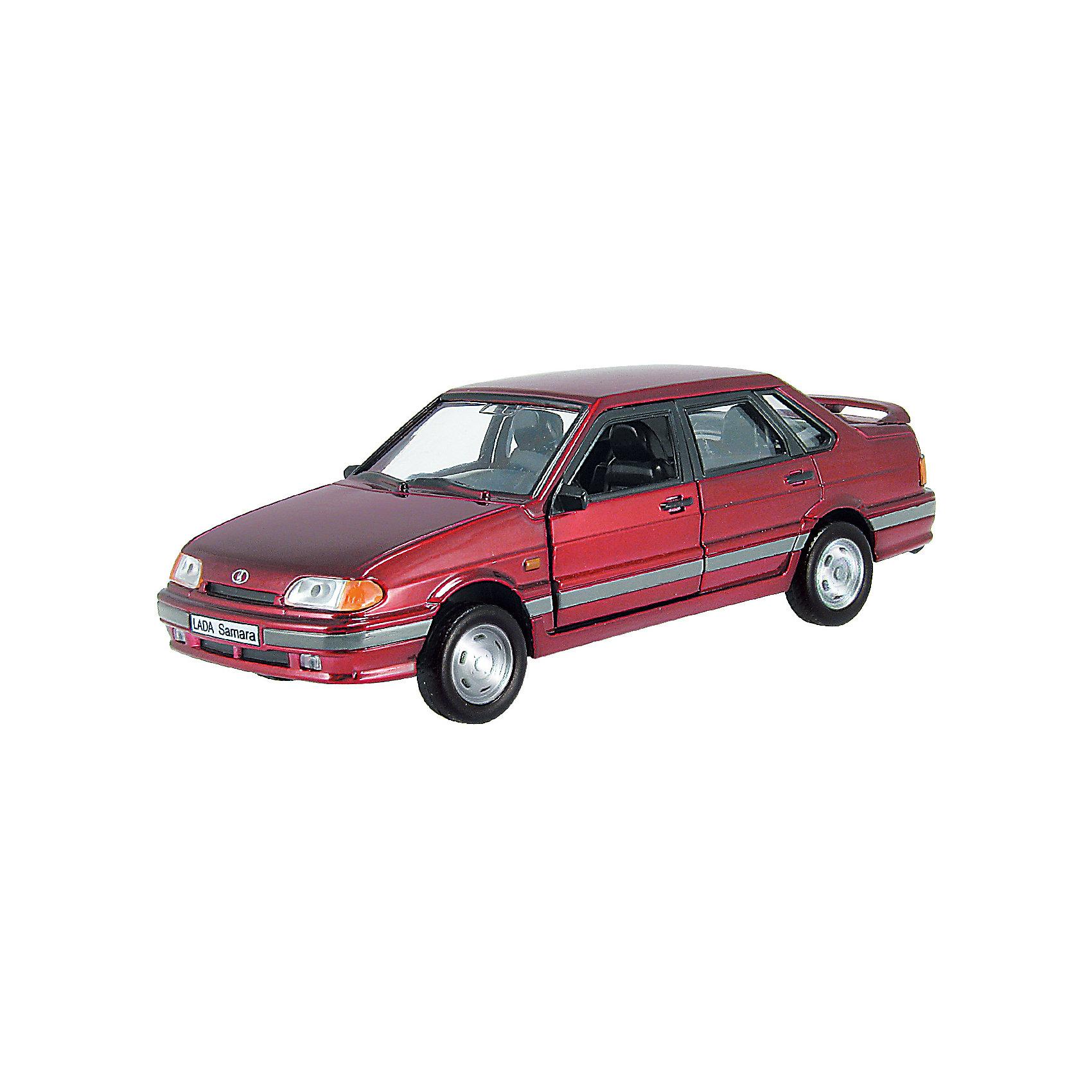 Машина LADA SAMARA, гражданская,  1:36МашинаLADA SAMARA,  - коллекционная модель, являющая копией настоящего автомобиля, сделанной в масштабе 1:36. Машинка станет прекрасным подарком всем юным автолюбителям и займет достойное место в любой коллекции автомобилей. Игрушка имеет инерционный механизм и открывающиеся двери, выполнена из высококачественных прочных безопасных материалов. <br><br>Дополнительная информация:<br><br>- Материал: пластик, металл.<br>- Масштаб: 1:36.<br>- Колеса подвижные.<br>- Двери открываются.<br>- Инерционный механизм. <br><br>Машину LADA SAMARA, гражданская,  1:36, можно купить в нашем магазине.<br><br>Ширина мм: 165<br>Глубина мм: 57<br>Высота мм: 72<br>Вес г: 175<br>Возраст от месяцев: 36<br>Возраст до месяцев: 84<br>Пол: Мужской<br>Возраст: Детский<br>SKU: 4515346