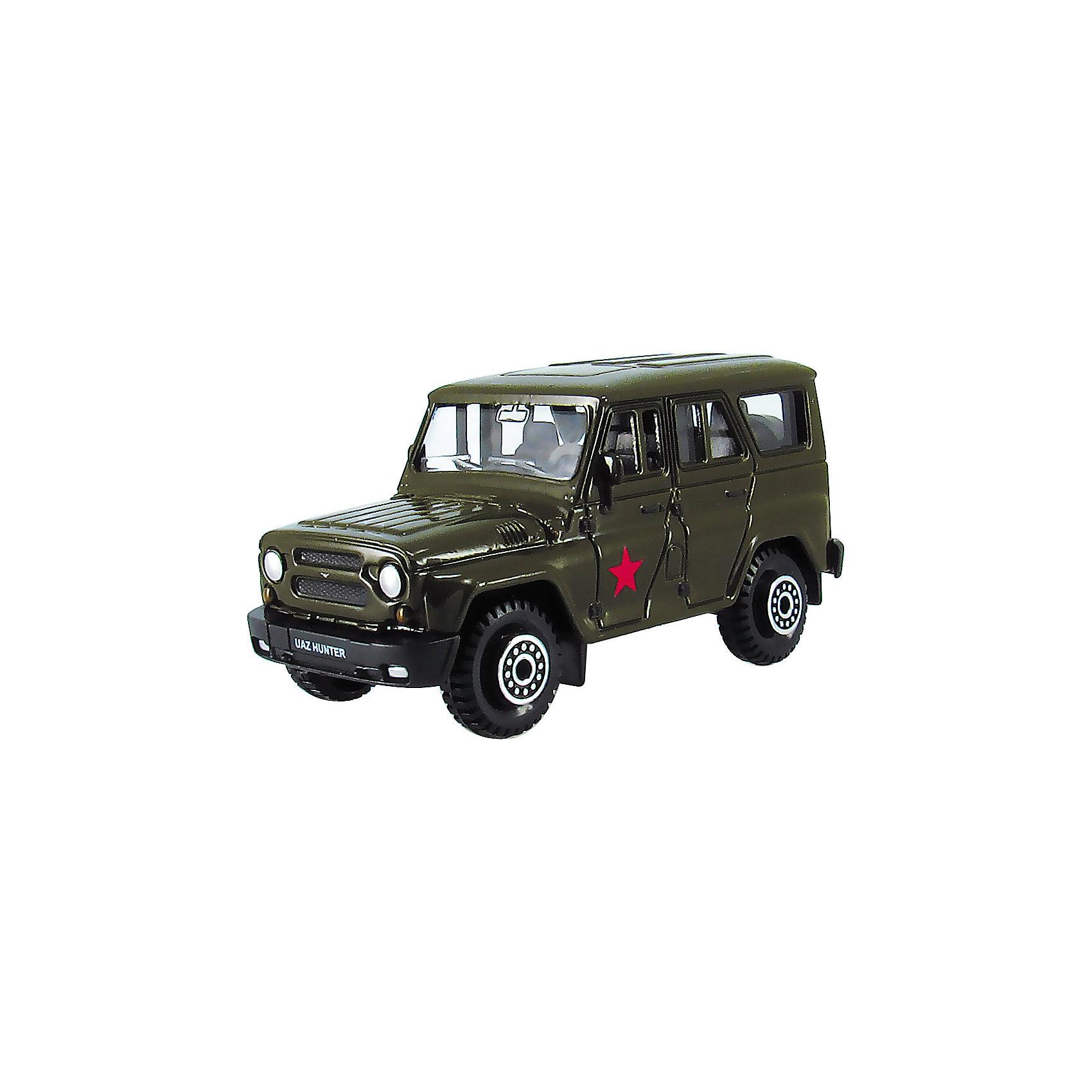 - Машина UAZ HUNTER, армейская, 1:60 машинки autotime машина uaz 31514 ваи