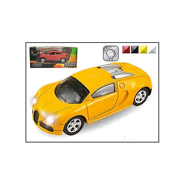 Машина FRANCE SPORT LEGEND, со светом, 1:43Машинки<br>Машинка France Sport Legend со светом фар 1:43, Autotime (Автотайм).<br><br>Характеристики:<br><br>• Масштаб 1:43<br>• Материал: металл, пластик<br>• Батарейки: 2xLR1130 батарейки-таблетки (входят в комплект)<br>• Упаковка: картонная коробка блистерного типа<br>• Размер упаковки: 15x6,5 см.<br>• ВНИМАНИЕ! Данный артикул представлен в различном цветовом исполнении. К сожалению, заранее выбрать определенный вариант невозможно. При заказе нескольких машинок возможно получение одинаковых<br><br>Яркий спортивный автомобиль, выполненный в масштабе 1:43 приведет в восторг всех юных гонщиков! Фары машины светятся, колеса - подвижные. Корпус машинки изготовлен из металла, а все дополнительные элементы из пластика. Товар соответствует требованиям безопасности и стандартам качества продукции.<br><br>Машинку France Sport Legend со светом фар 1:43, Autotime (Автотайм) можно купить в нашем интернет-магазине.<br><br>Ширина мм: 150<br>Глубина мм: 57<br>Высота мм: 65<br>Вес г: 139<br>Возраст от месяцев: 36<br>Возраст до месяцев: 84<br>Пол: Мужской<br>Возраст: Детский<br>SKU: 4515351