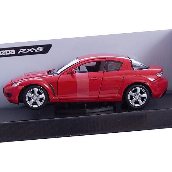 Машина MAZDA RX-8, 1:24Машинки<br>Этот роскошный автомобиль приведет в восторг всех юных автолюбителей. Модель выполнена в масштабе 1:24, прекрасно детализирована, имеет подвижные колеса. Машина изготовлена из высококачественных материалов, все детали и края аккуратно обработаны. <br><br>Дополнительная информация:<br><br>- Материал: пластик, металл.<br>- Масштаб: 1:24.<br>- Колеса подвижные.<br><br>Машину MAZDA RX-8, 1:24, можно купить в нашем магазине.<br><br>Ширина мм: 245<br>Глубина мм: 112<br>Высота мм: 102<br>Вес г: 468<br>Возраст от месяцев: 36<br>Возраст до месяцев: 84<br>Пол: Мужской<br>Возраст: Детский<br>SKU: 4515364