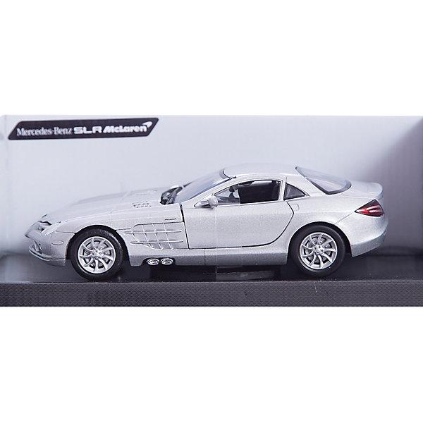 Машина MERCEDES-BENZ SLR MCLAREN, 1:24, в ассортиментеМашинки<br>Этот роскошный автомобиль приведет в восторг всех юных автолюбителей. Модель выполнена в масштабе 1:24, прекрасно детализирована, имеет подвижные колеса. Машина изготовлена из высококачественных материалов, все детали и края аккуратно обработаны. <br><br>Дополнительная информация:<br><br>- Материал: пластик, металл.<br>- Масштаб: 1:24.<br>- Колеса подвижные.<br><br>Машину MERCEDES-BENZ SLR MCLAREN, 1:24, можно купить в нашем магазине.<br><br>Ширина мм: 245<br>Глубина мм: 112<br>Высота мм: 102<br>Вес г: 577<br>Возраст от месяцев: 36<br>Возраст до месяцев: 84<br>Пол: Мужской<br>Возраст: Детский<br>SKU: 4515365