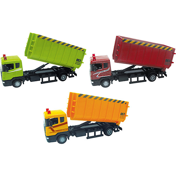 Машина SCANIA, стройконтейнер, 1:48Машинки<br>Машинка Scania стройконтейнер 1:48, Autotime (Автотайм).<br><br>Характеристики:<br><br>• Масштаб 1:48<br>• Длина машинки: 17 см.<br>• Материал: металл, пластик<br>• Цвет в ассортименте: красный, желтый, зеленый<br>• Упаковка: картонная коробка блистерного типа<br>• Размер упаковки: 20х11х6 см.<br>• ВНИМАНИЕ! Данный артикул представлен в различном цветовом исполнении. К сожалению, заранее выбрать определенный вариант невозможно. При заказе нескольких машинок возможно получение одинаковых<br><br>Машинка Scania стройконтейнер от Autotime (Автотайм) является уменьшенной копией настоящего автомобиля. Модель отличается высокой степенью детализации. Корпус машинки металлический с пластиковыми элементами. Машинка имеет вместительный кузов и подъемный механизм для разгрузки. Колеса автомобиля вращаются.<br><br>Машинку Scania стройконтейнер 1:48, Autotime (Автотайм) можно купить в нашем интернет-магазине.<br><br>Ширина мм: 197<br>Глубина мм: 60<br>Высота мм: 111<br>Вес г: 237<br>Возраст от месяцев: 36<br>Возраст до месяцев: 84<br>Пол: Мужской<br>Возраст: Детский<br>SKU: 4515370