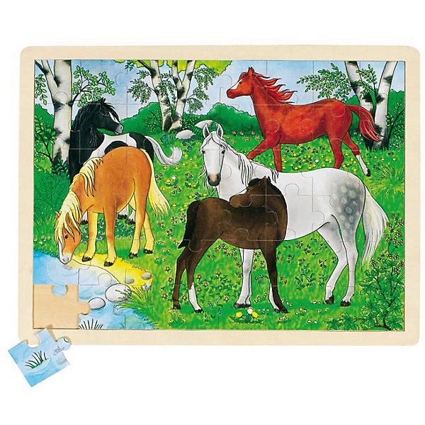 Пазл Ферма пони, 70 дет., gokiПазлы для малышей<br>ПазлФерма пони, 70 дет., goki (гоки) – это интересный красивый деревянный пазл.<br>Яркий пазл с изображениями лошадей разной масти, пасущихся на лесной поляне состоит из 70 частей. Пазл изготовлен из экологически чистых, абсолютно безвредных для здоровья материалов. Собранный пазл, благодаря деревянной рамке будет великолепно смотреться в детской комнате. Составление пазлов развивает пространственное воображение, образное и логическое мышление, память, внимание, координацию движений и мелкую моторику рук. Собирая пазлы, ребенок познает связь между частью и целым.<br><br>Дополнительная информация:<br><br>- Количество частей пазла: 70<br>- Материал: древесина<br>- Размер: 30 х 40 см.<br>- Вес: 200 гр.<br><br>ПазлФерма пони, 70 дет., goki (гоки) можно купить в нашем интернет-магазине.<br>Ширина мм: 300; Глубина мм: 400; Высота мм: 50; Вес г: 200; Возраст от месяцев: 36; Возраст до месяцев: 84; Пол: Унисекс; Возраст: Детский; SKU: 4517879;