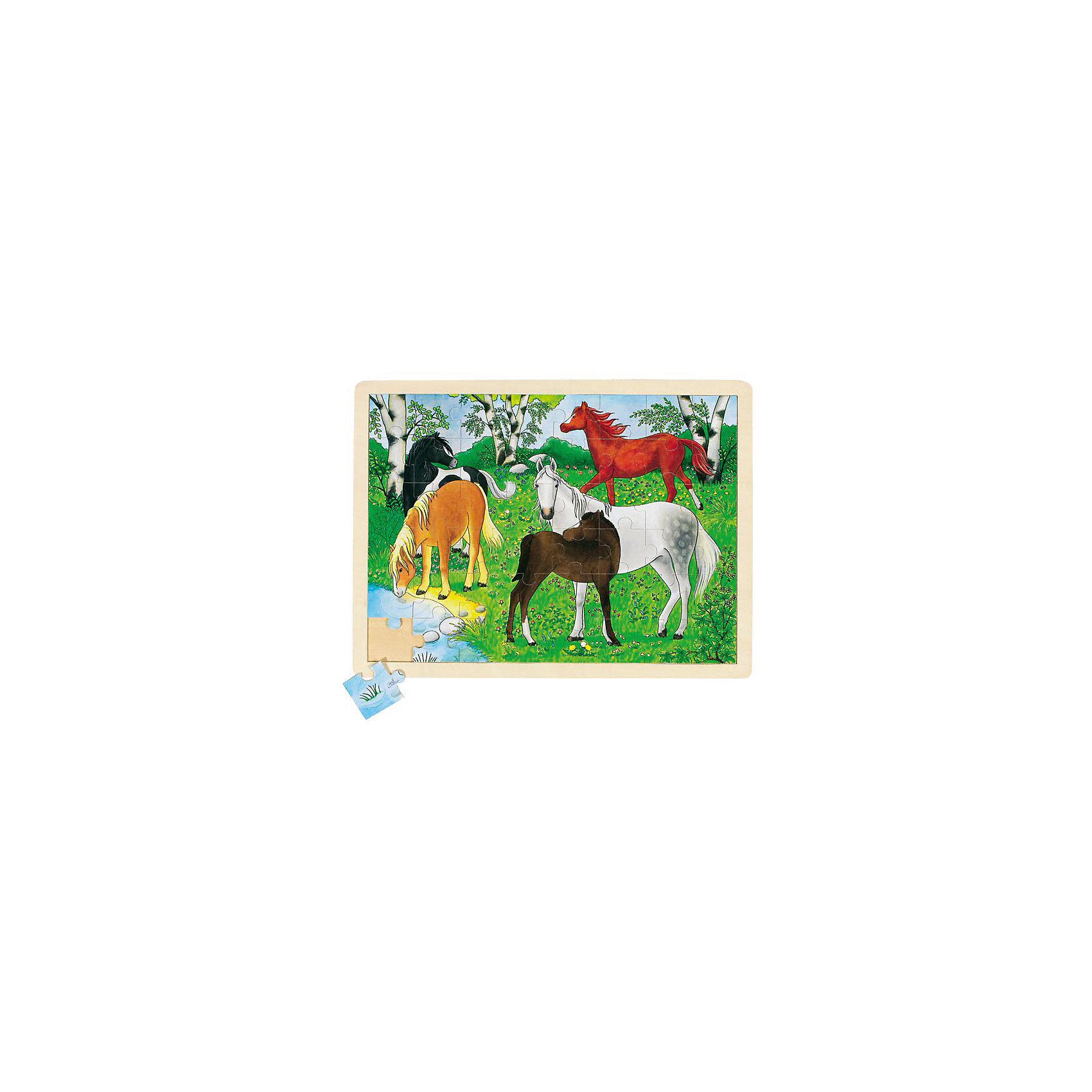 Пазл Ферма пони, 70 дет., gokiДеревянные пазлы<br>ПазлФерма пони, 70 дет., goki (гоки) – это интересный красивый деревянный пазл.<br>Яркий пазл с изображениями лошадей разной масти, пасущихся на лесной поляне состоит из 70 частей. Пазл изготовлен из экологически чистых, абсолютно безвредных для здоровья материалов. Собранный пазл, благодаря деревянной рамке будет великолепно смотреться в детской комнате. Составление пазлов развивает пространственное воображение, образное и логическое мышление, память, внимание, координацию движений и мелкую моторику рук. Собирая пазлы, ребенок познает связь между частью и целым.<br><br>Дополнительная информация:<br><br>- Количество частей пазла: 70<br>- Материал: древесина<br>- Размер: 30 х 40 см.<br>- Вес: 200 гр.<br><br>ПазлФерма пони, 70 дет., goki (гоки) можно купить в нашем интернет-магазине.<br><br>Ширина мм: 300<br>Глубина мм: 400<br>Высота мм: 50<br>Вес г: 200<br>Возраст от месяцев: 36<br>Возраст до месяцев: 84<br>Пол: Унисекс<br>Возраст: Детский<br>SKU: 4517879