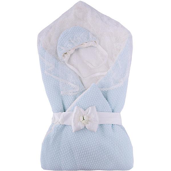Купить Конверт-одеяло на выписку Жемчужинка, Сонный гномик, голубой, Россия, Мужской