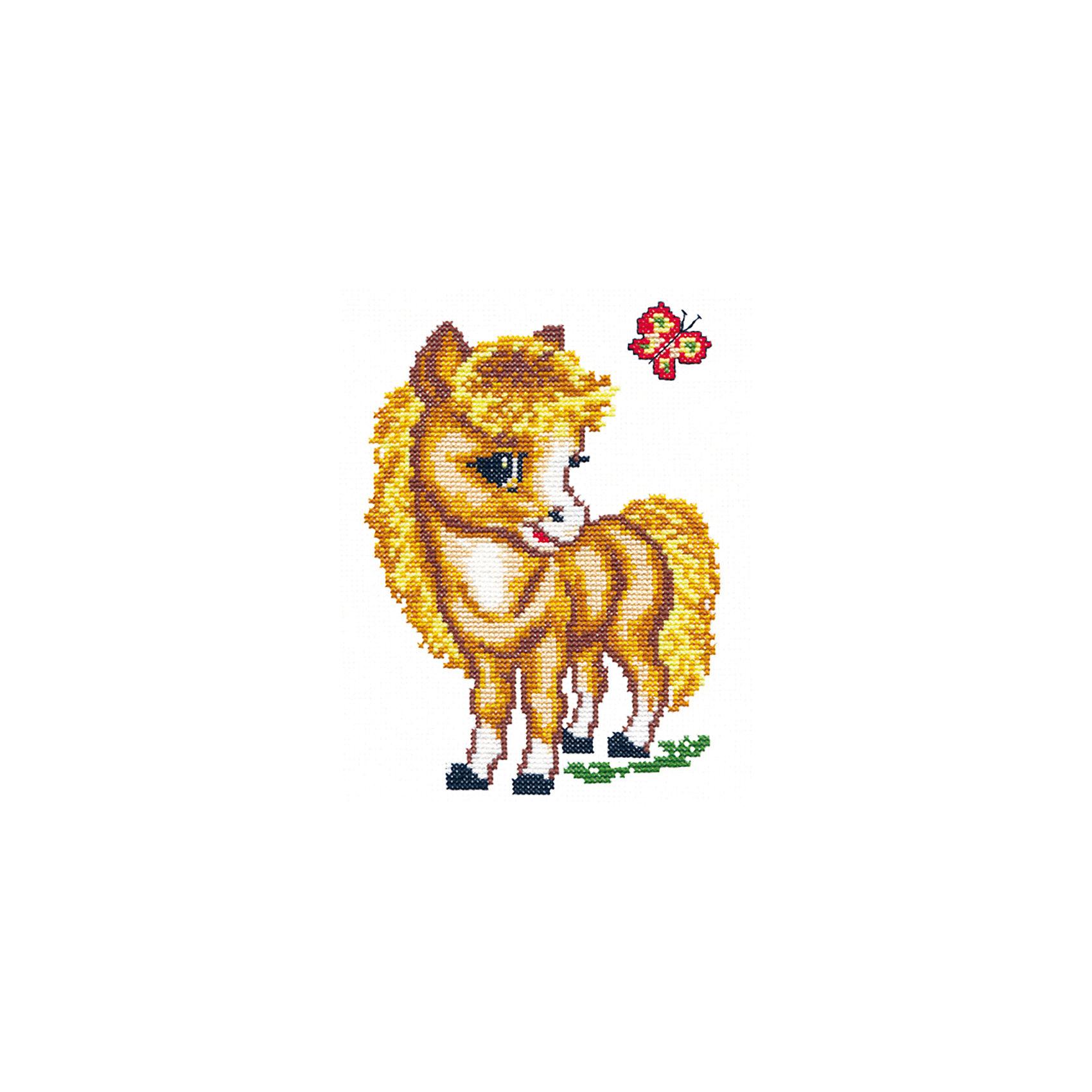 Чудесная игла Набор для вышивания крестом «Весёлая лошадка» vervaco набор для вышивания лицевой стороны наволочки белый шиповник 40 40см