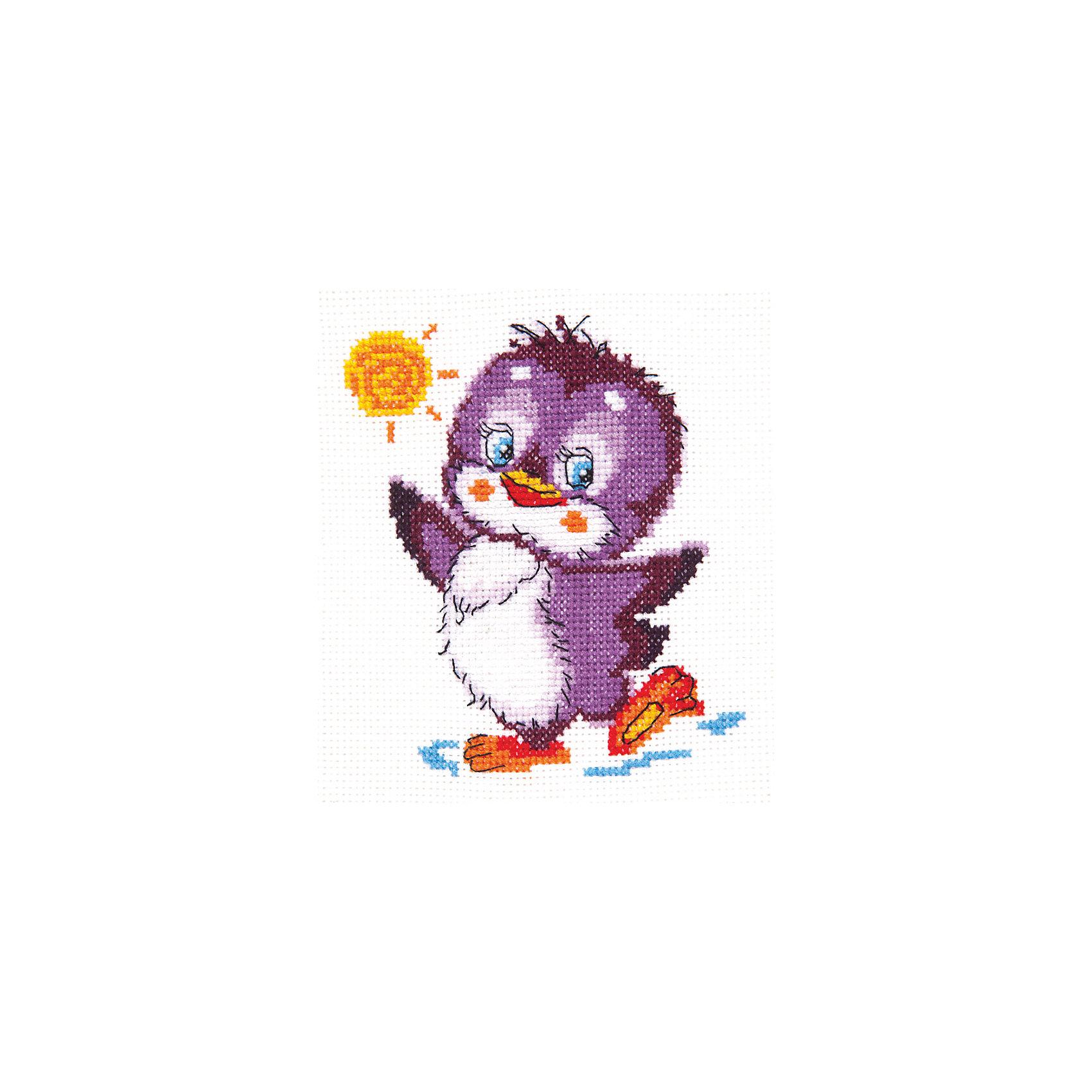 Чудесная игла Набор для вышивания крестом «Крошка пингвиненок» набор для вышивания крестом luca s дневной котенок 5 5 х 10 см