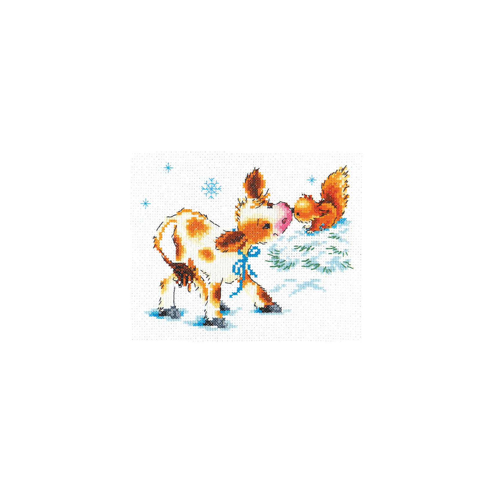 Чудесная игла Набор для вышивания крестом «Тёплая встреча» набор для вышивания крестом luca s дневной котенок 5 5 х 10 см