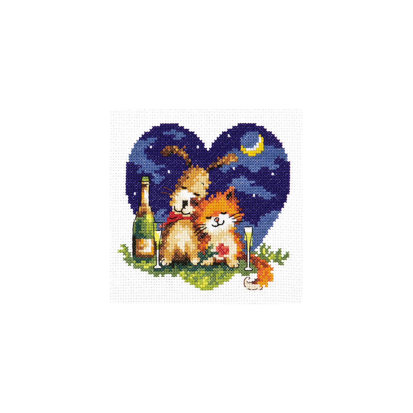 Чудесная игла Набор для вышивания крестом «Счастье быть рядом!» набор для вышивания крестом luca s дневной котенок 5 5 х 10 см