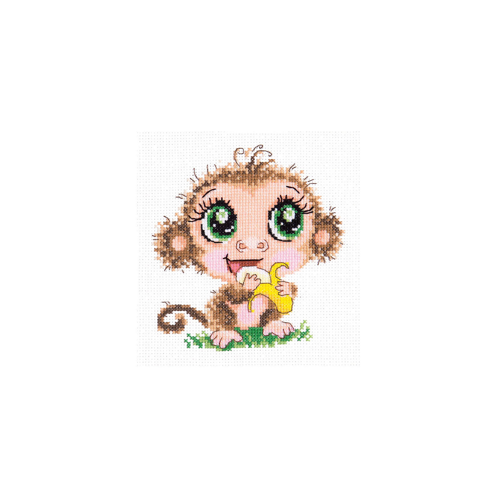 Чудесная игла Набор для вышивания крестом «Мартышонок» набор для вышивания крестом luca s дневной котенок 5 5 х 10 см