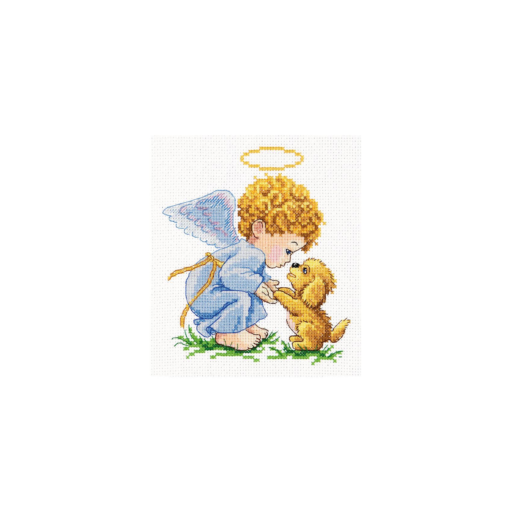 Вышивка крестом Ангел с кроликом - купить в интернет 54