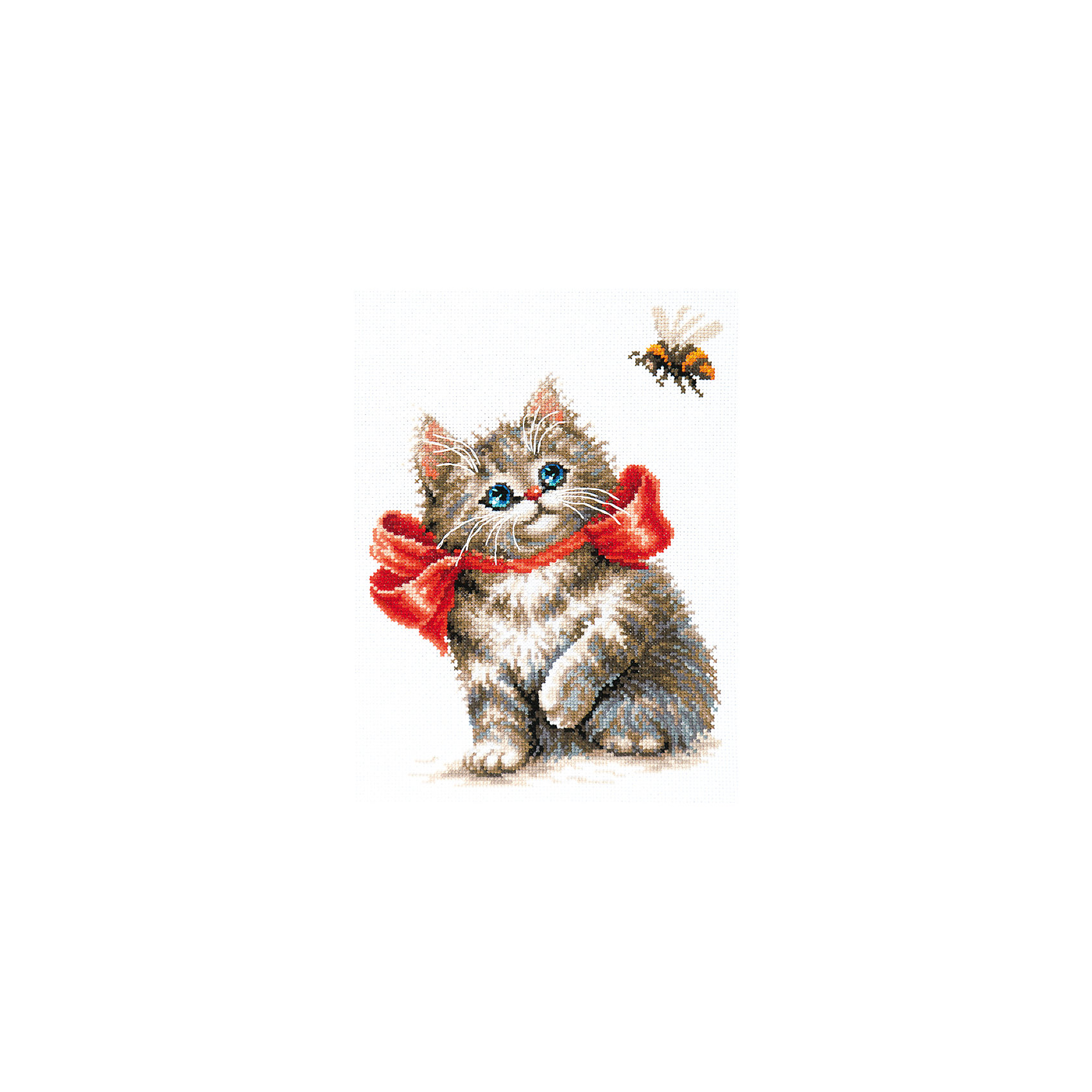 Чудесная игла Набор для вышивания крестом «Неподдельный интерес!» набор для вышивания крестом luca s дневной котенок 5 5 х 10 см