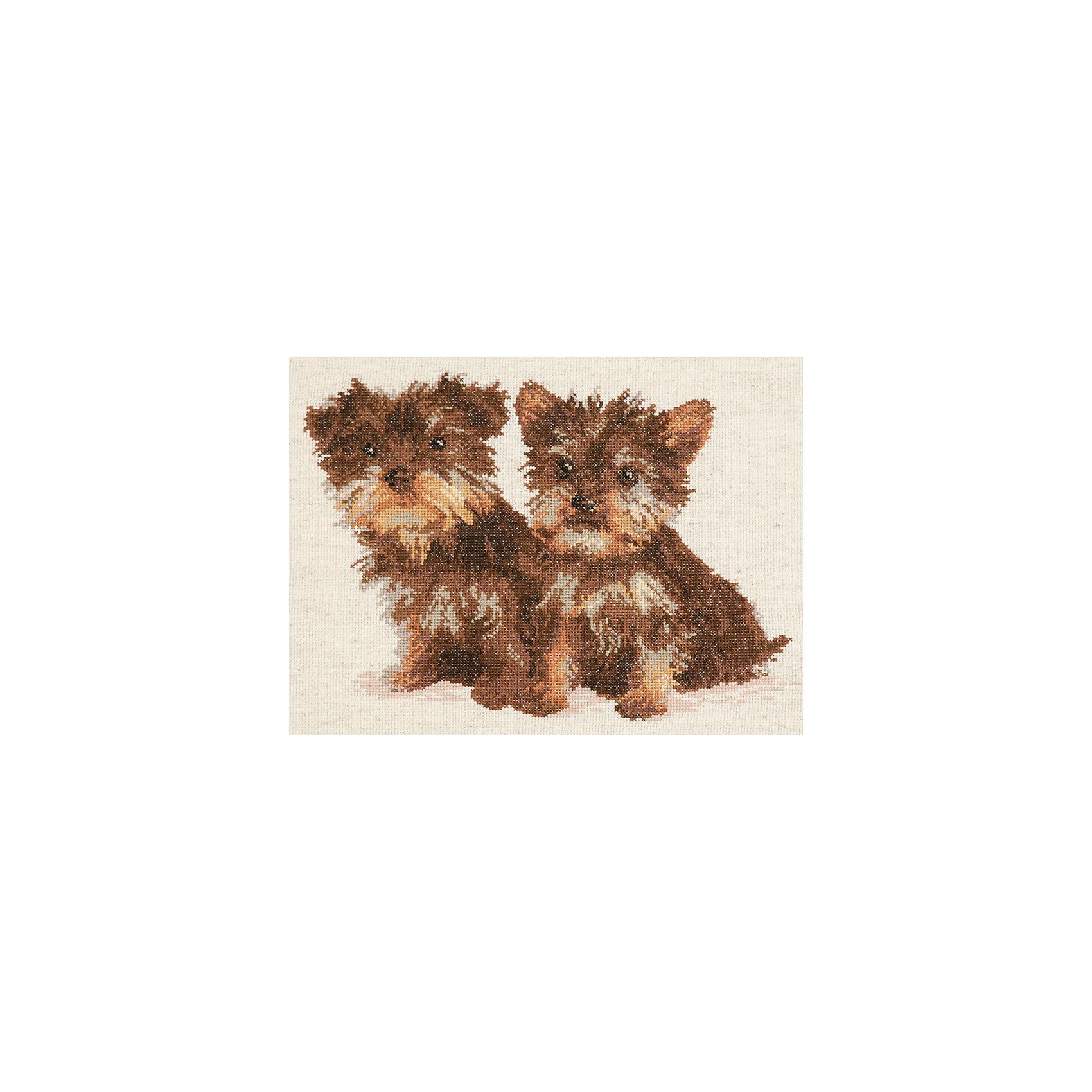 Чудесная игла Набор для вышивания крестом «Лохматые друзья» vervaco набор для вышивания лицевой стороны наволочки белый шиповник 40 40см