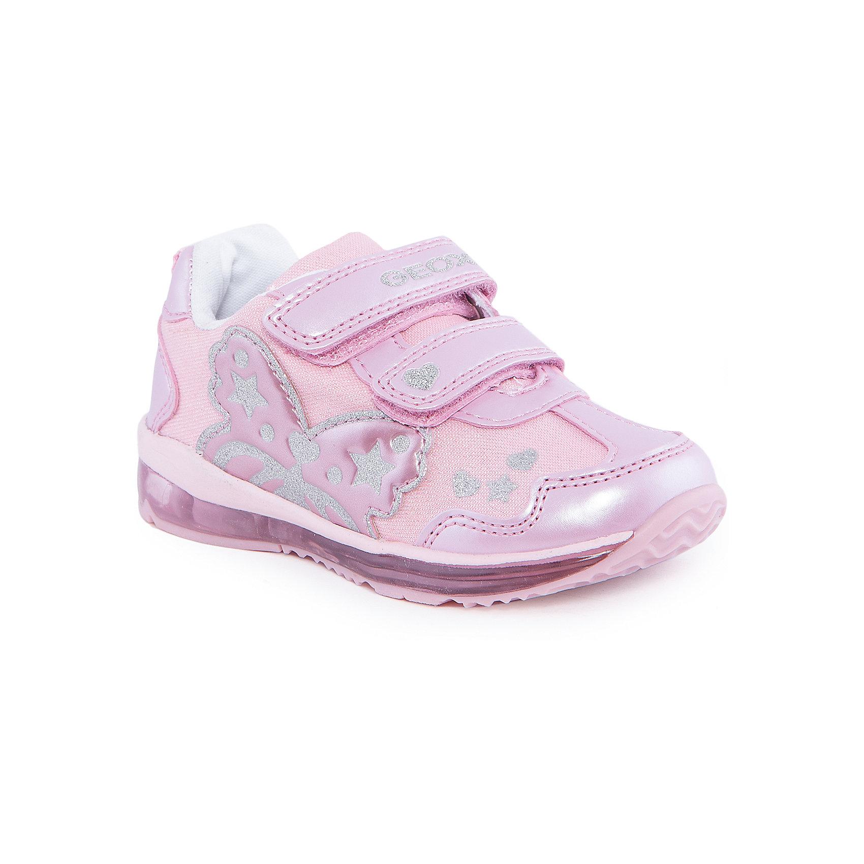Кроссовки для девочки GEOXКроссовки<br>Кроссовки для девочки от популярной марки GEOX (Геокс).<br><br>Нарядные дышащие кроссовки разнообразят гардероб ребенка в новом сезоне! Эта модель создана специально для девочек, она очень стильно и оригинально смотрится.<br>Производитель обуви заботится не только о внешнем виде, но и стабильно высоком качестве продукции. GEOX (Геокс) разработал специальную высокотехнологичную стельку. Вся обувь делается только из качественных и надежных материалов.<br><br>Отличительные особенности модели:<br><br>- цвет: розовый;<br>- декорирована блестящим принтом;<br>- прочная устойчивая подошва;<br>- мягкий и легкий верх;<br>- защита пальцев и пятки;<br>- стильный дизайн;<br>- анатомическая стелька;<br>- удобные застежки - липучки;<br>- комфортное облегание;<br>- подкладка - натуральная кожа;<br>- дышащие материалы (технология Geox Respira).<br><br>Дополнительная информация:<br><br>- Сезон: весна/лето.<br><br>- Состав:<br><br>материал верха: искусственная кожа;<br>подкладка: натуральная кожа, текстиль;<br>стелька: натуральная кожа;<br>подошва: полимер.<br><br>Кроссовки для девочки GEOX (Геокс) можно купить в нашем магазине.<br><br>Ширина мм: 250<br>Глубина мм: 150<br>Высота мм: 150<br>Вес г: 250<br>Цвет: розовый<br>Возраст от месяцев: 24<br>Возраст до месяцев: 24<br>Пол: Женский<br>Возраст: Детский<br>Размер: 25,23,24,26,27<br>SKU: 4518934