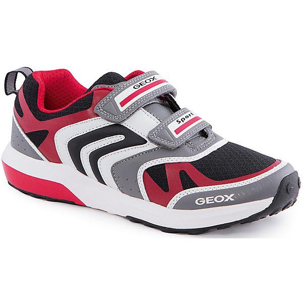 Кроссовки для мальчика GEOXКроссовки<br>Кроссовки для мальчика от популярной марки GEOX (Геокс).<br><br>Практичные и дышащие кроссовки - отличная обувь для занятий спортом и не только! Модель очень стильно и оригинально смотрится.<br>Производитель обуви заботится не только о внешнем виде, но и стабильно высоком качестве продукции. GEOX (Геокс) разработал специальную дышащую подошву, которая не пропускает влагу внутрь, а также высокотехнологичную стельку.<br><br>Отличительные особенности модели:<br><br>- цвет: серый;<br>- декорированы красными, черными и белыми элементами;<br>- гибкая водоотталкивающая подошва с дышащей мембраной;<br>- мягкий и легкий верх;<br>- защита пальцев и пятки;<br>- стильный дизайн;<br>- удобная застежка-липучка;<br>- комфортное облегание;<br>- верх обуви и подкладка сделаны без использования хрома.<br><br>Дополнительная информация:<br><br>- Температурный режим: от +10° С до 25° С.<br><br>- Состав:<br><br>материал верха: текстиль, синтетический материал<br>материал подкладки: текстиль<br>подошва: 100% резина<br><br>Кроссовки для мальчика GEOX (Геокс) (Геокс) можно купить в нашем магазине.<br>Ширина мм: 250; Глубина мм: 150; Высота мм: 150; Вес г: 250; Цвет: серый; Возраст от месяцев: 48; Возраст до месяцев: 60; Пол: Мужской; Возраст: Детский; Размер: 28,30,31,33,34,35,27,36,37,32,29,26; SKU: 4519016;