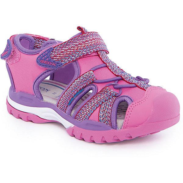 Сандалии для девочки GeoxСандалии<br>Босоножки для девочки от популярной марки GEOX (Геокс).<br><br>Модные легкие босоножки - отличная обувь для нового летнего сезона. Эта модель создана специально для девочек, она очень стильно и оригинально смотрится.<br>Производитель обуви заботится не только о внешнем виде, но и стабильно высоком качестве продукции. GEOX (Геокс) разработал специальную высокотехнологичную стельку. Вся обувь делается только из качественных и надежных материалов.<br><br>Отличительные особенности модели:<br><br>- цвет: розовый;<br>- декорирована яркой тесьмой;<br>- гибкая прочная подошва;<br>- мягкий и легкий верх;<br>- защита пальцев;<br>- стильный дизайн;<br>- анатомическая стелька;<br>- удобные застежки - липучки;<br>- комфортное облегание;<br>- декоративная шнуровка.<br><br>Дополнительная информация:<br><br>- Сезон: весна/лето.<br><br>- Состав:<br><br>материал верха: текстиль;<br>подошва: 100% резина.<br><br>Босоножки для девочки GEOX (Геокс) можно купить в нашем магазине.<br>Ширина мм: 219; Глубина мм: 154; Высота мм: 121; Вес г: 343; Цвет: розовый; Возраст от месяцев: 72; Возраст до месяцев: 84; Пол: Женский; Возраст: Детский; Размер: 30,34,31,26,27,28,29,32,33,35,36; SKU: 4519053;