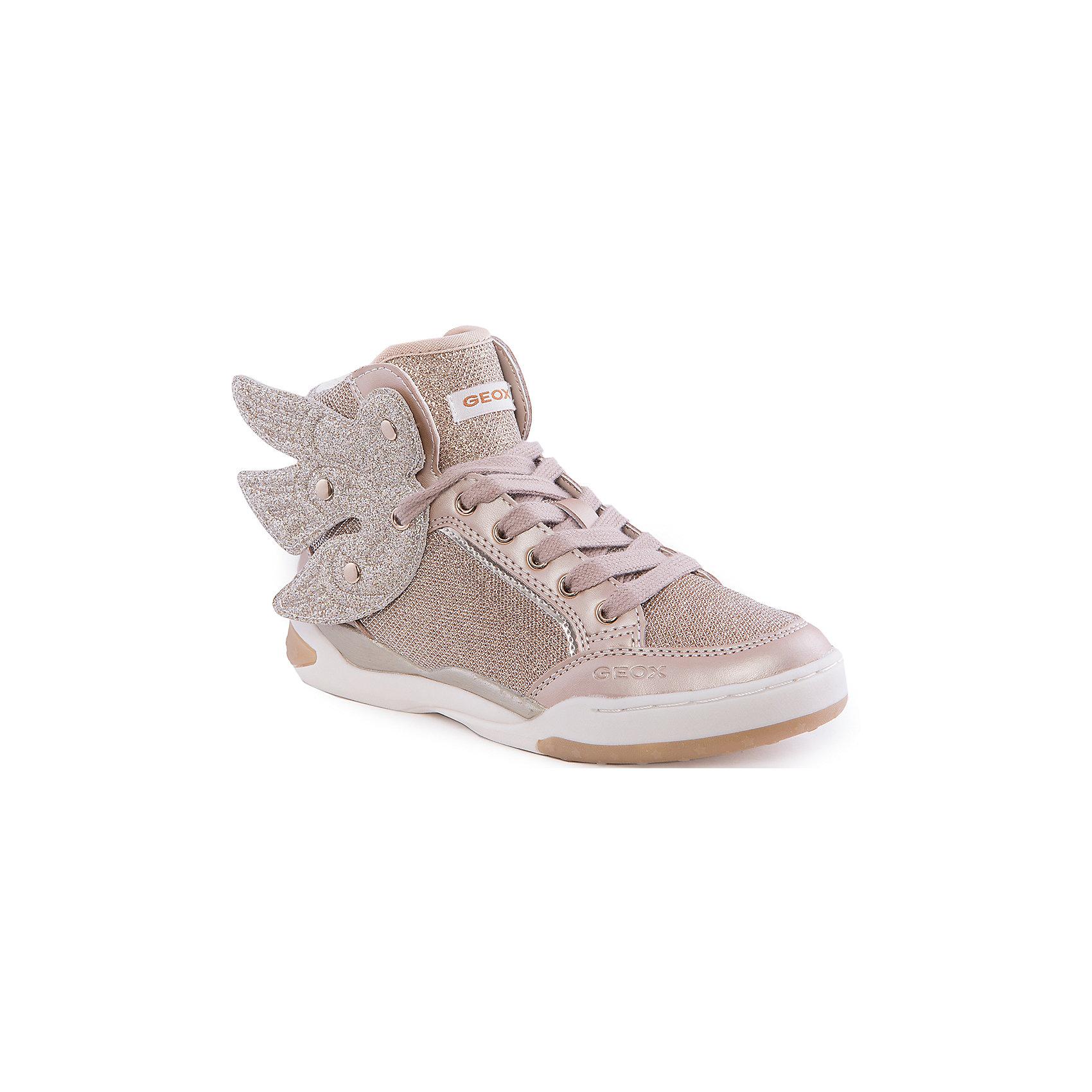Кроссовки для девочки GEOXКроссовки для девочки от популярной марки GEOX (Геокс).<br><br>Оригинальные золотистые кроссовки - отличная обувь для нового весеннего сезона. В таких кроссовках девочка обязательно привлечет внимание!<br>Производитель обуви заботится не только о внешнем виде, но и стабильно высоком качестве продукции. GEOX (Геокс) разработал специальную дышащую подошву, которая не пропускает влагу внутрь, а также высокотехнологичную стельку.<br><br>Отличительные особенности модели:<br><br>- цвет: золотой;<br>- декорированы золотистыми элементами, крыльями;<br>- гибкая водоотталкивающая подошва с дышащей мембраной;<br>- мягкий и легкий верх;<br>- защита пальцев и пятки;<br>- стильный дизайн;<br>- удобная шнуровка, молния;<br>- комфортное облегание;<br>- верх обуви и подкладка сделаны без использования хрома.<br><br>Дополнительная информация:<br><br>- Температурный режим: от +10° С до 25° С.<br><br>- Состав:<br><br>материал верха: текстиль, синтетический материал<br>материал подкладки: текстиль<br>подошва: 100% резина<br><br>Кроссовки для девочки GEOX (Геокс) (Геокс) можно купить в нашем магазине.<br><br>Ширина мм: 250<br>Глубина мм: 150<br>Высота мм: 150<br>Вес г: 250<br>Цвет: золотой<br>Возраст от месяцев: 48<br>Возраст до месяцев: 60<br>Пол: Женский<br>Возраст: Детский<br>Размер: 28,32,30,29,31,34,35,36,33<br>SKU: 4519075